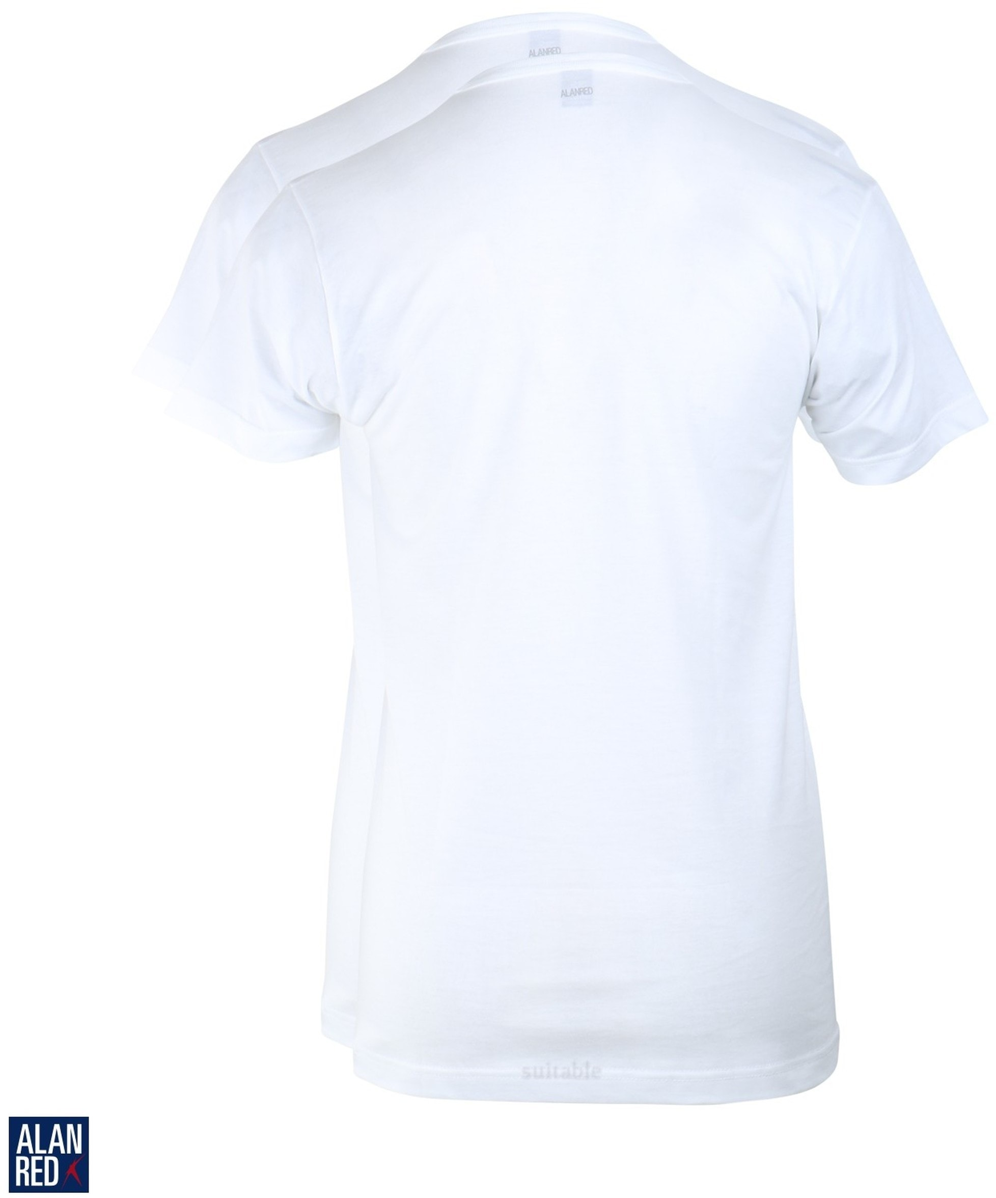 Alan Red West-Virginia T-shirt V-Hals Wit (2Pack) foto 1