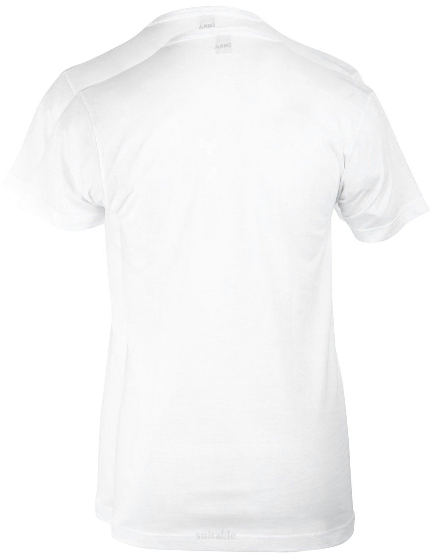 Alan Red West-Virginia T-shirt V-Hals Wit (2Pack) foto 2