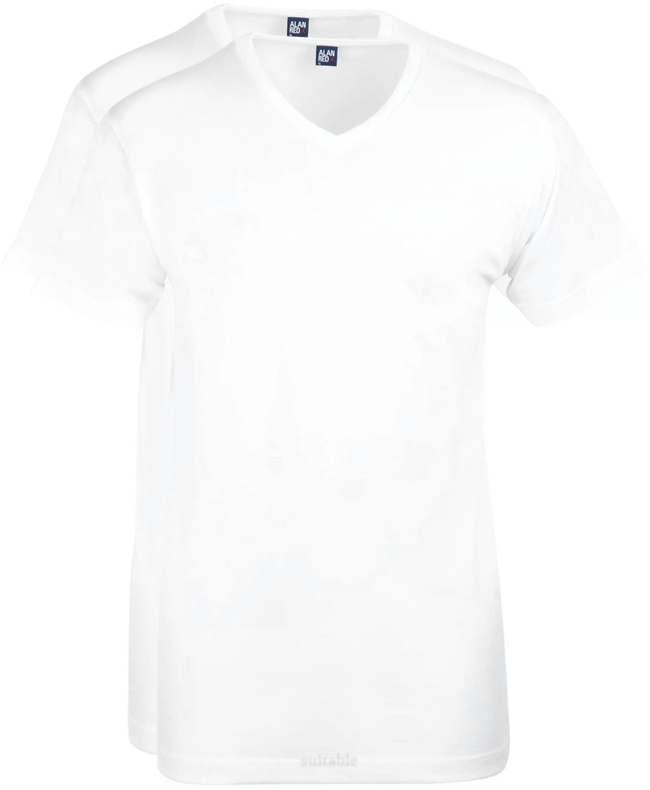 Alan Red West-Virginia T-shirt V-Hals Wit (2Pack) foto 0