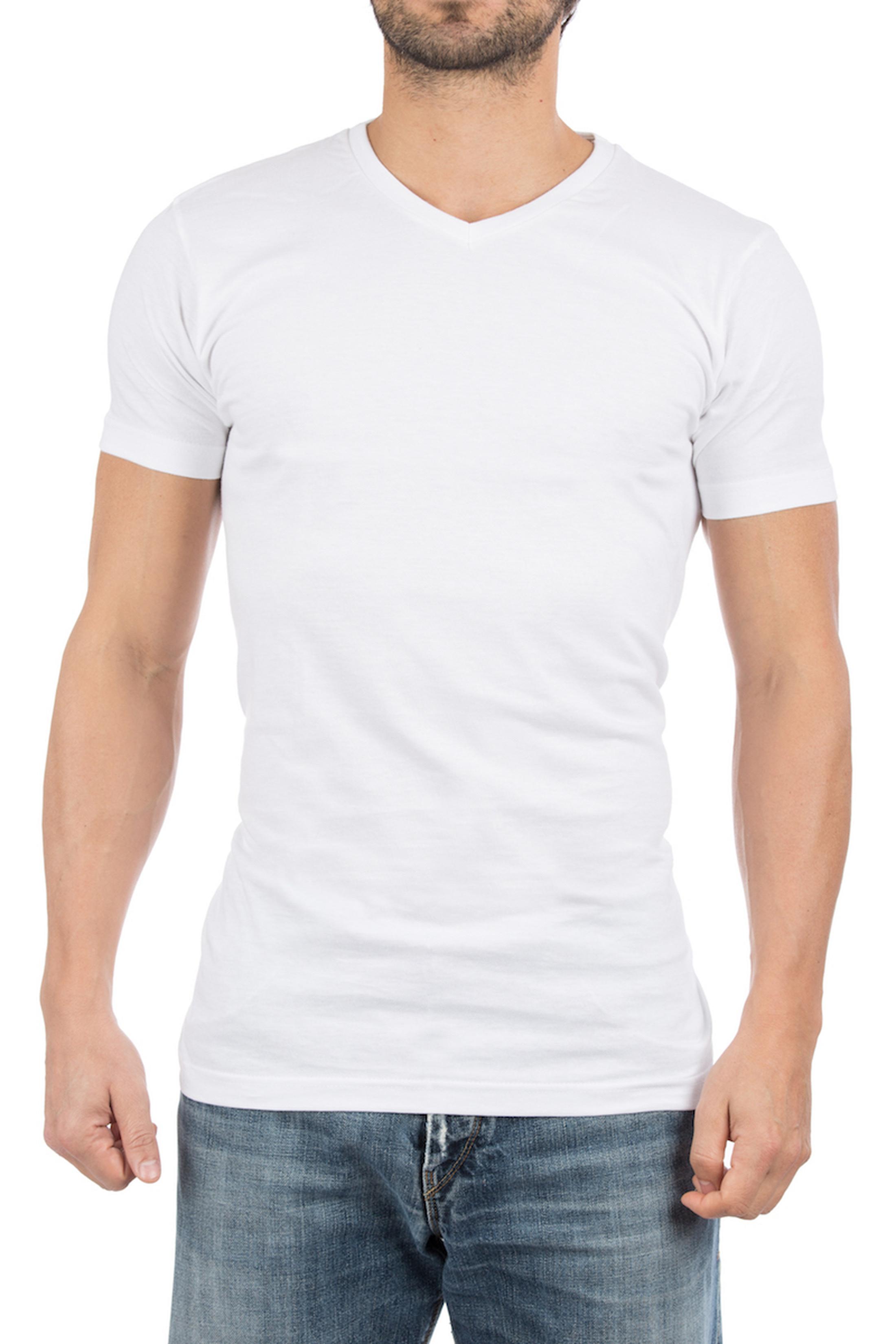 Alan Red West-Virginia T-shirt V-Hals Wit (2Pack)
