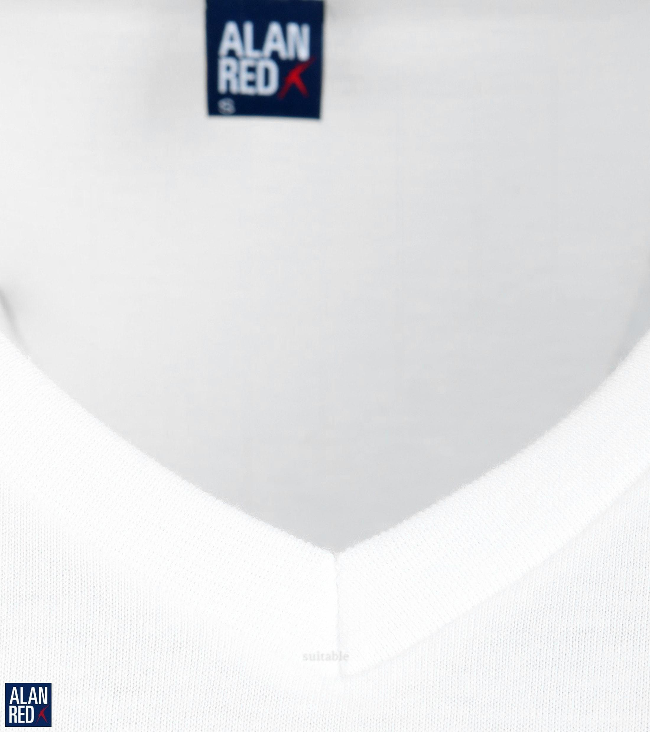 Alan Red West-Virginia V-Neck White 2-Pack foto 1