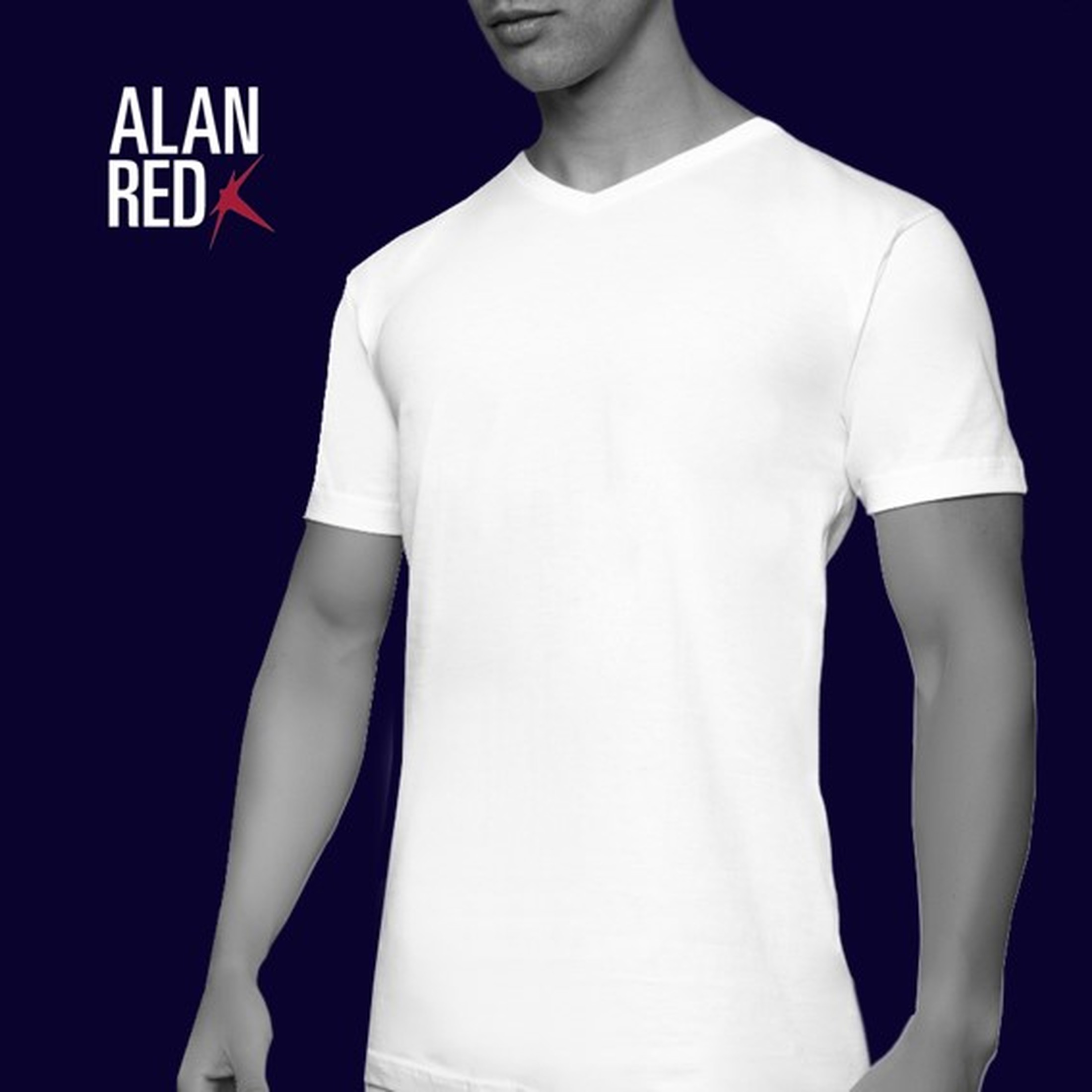 Alan Red West-Virginia V-Neck White 2-Pack