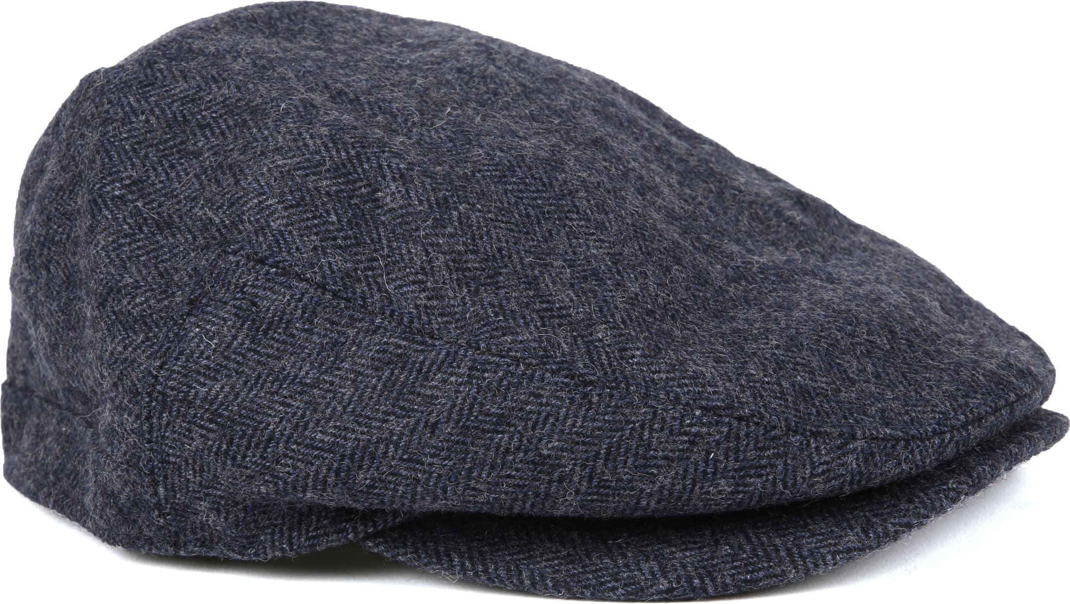 New MENS BEN SHERMAN GRAY HERRINGBONE WOOL//POLYESTER FLAT CAP CAPS