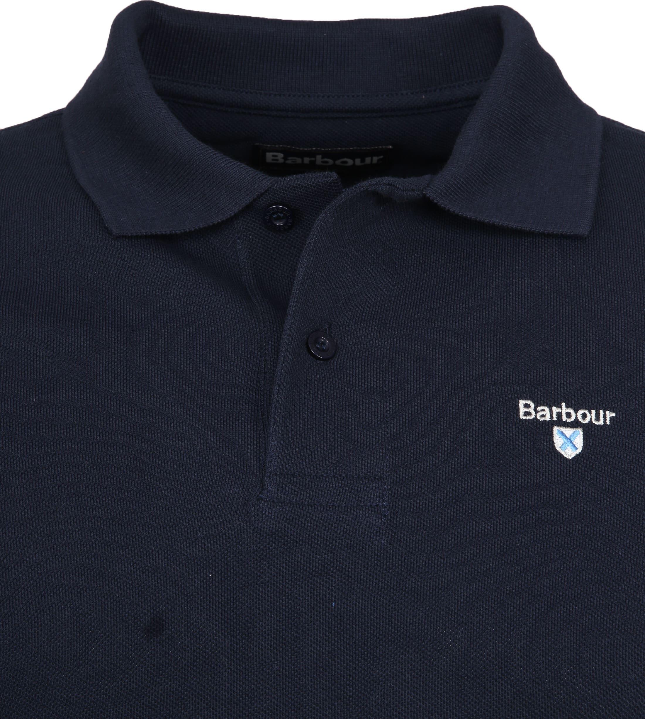 Barbour Basic Poloshirt Navy foto 1