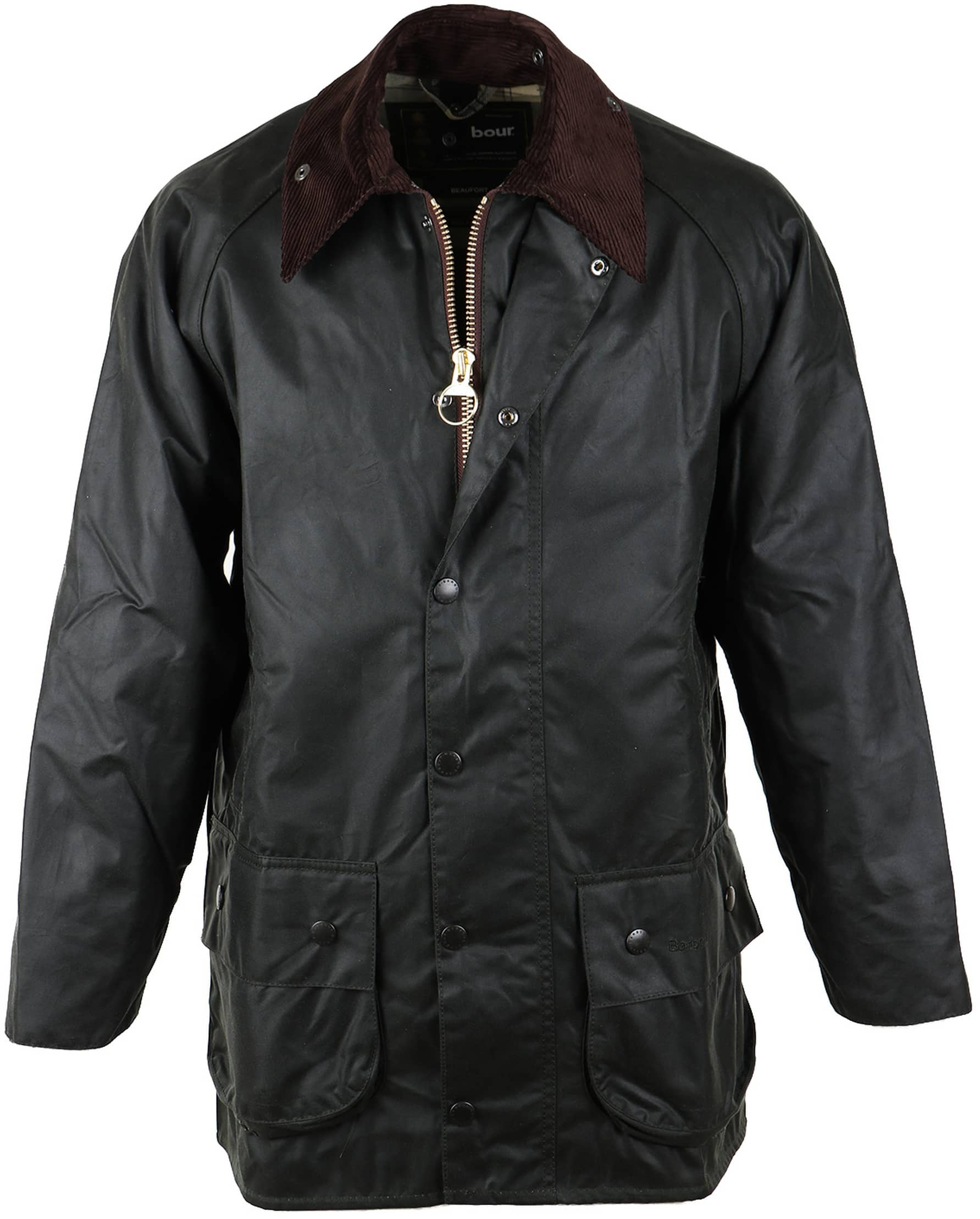 Barbour Beaufort Wax Jas Groen foto 0
