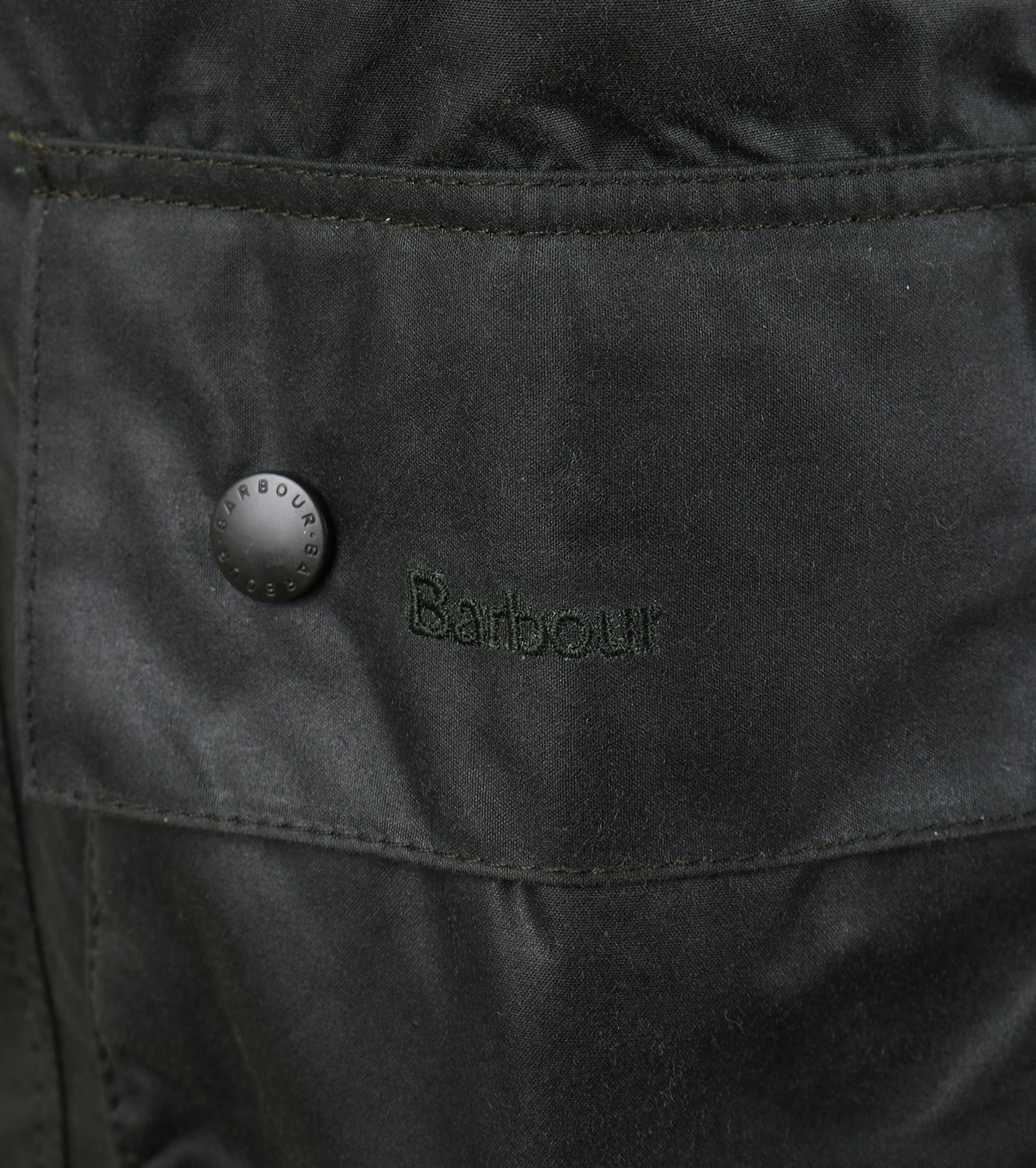 Barbour Beaufort Wax Jas Groen foto 5