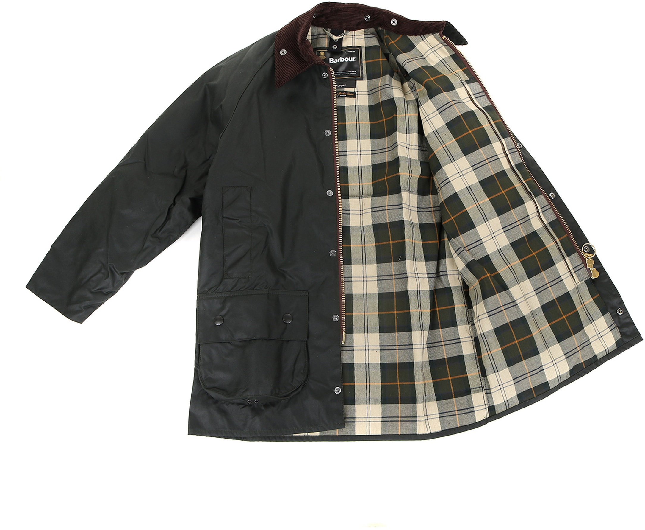 Barbour Beaufort Wax Jas Groen foto 6