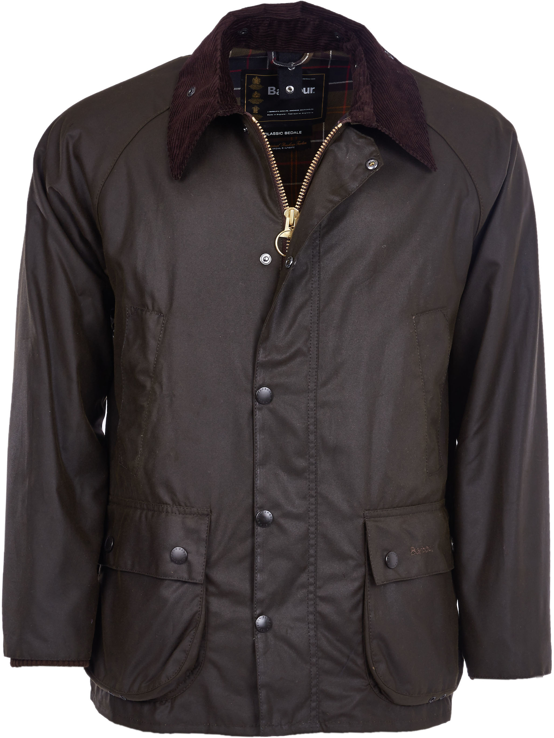 Barbour Bedale Classic Wachsjacke Olivgrün