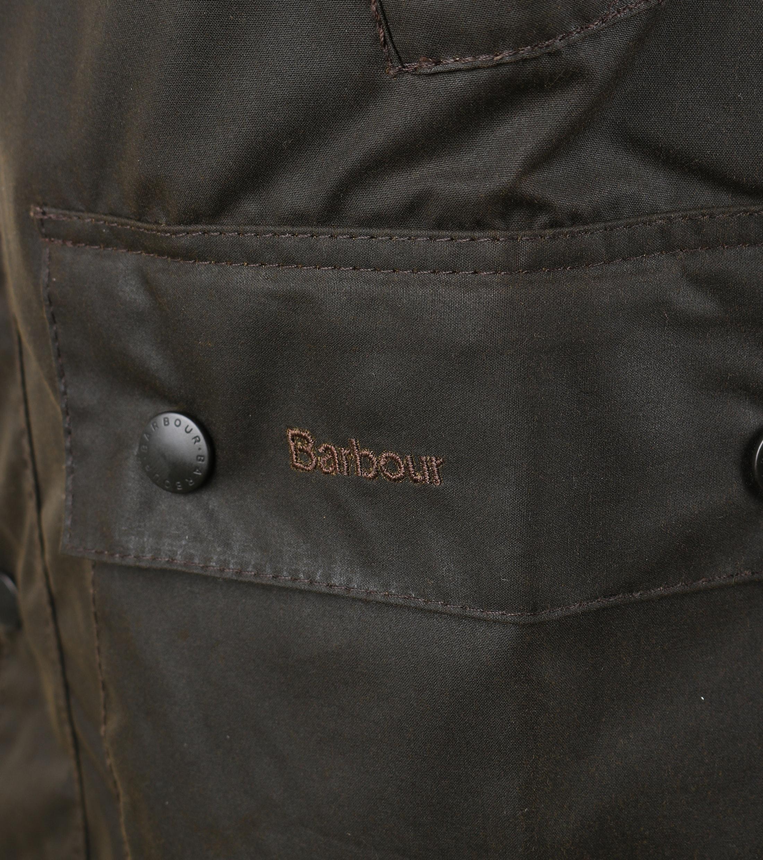 Barbour Bedale Wax Jas Olijfgroen foto 4
