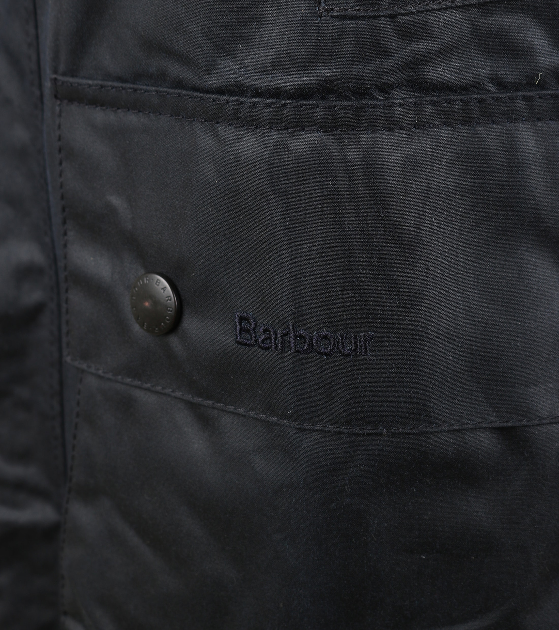 Barbour Border Wax Jas Blauw foto 5