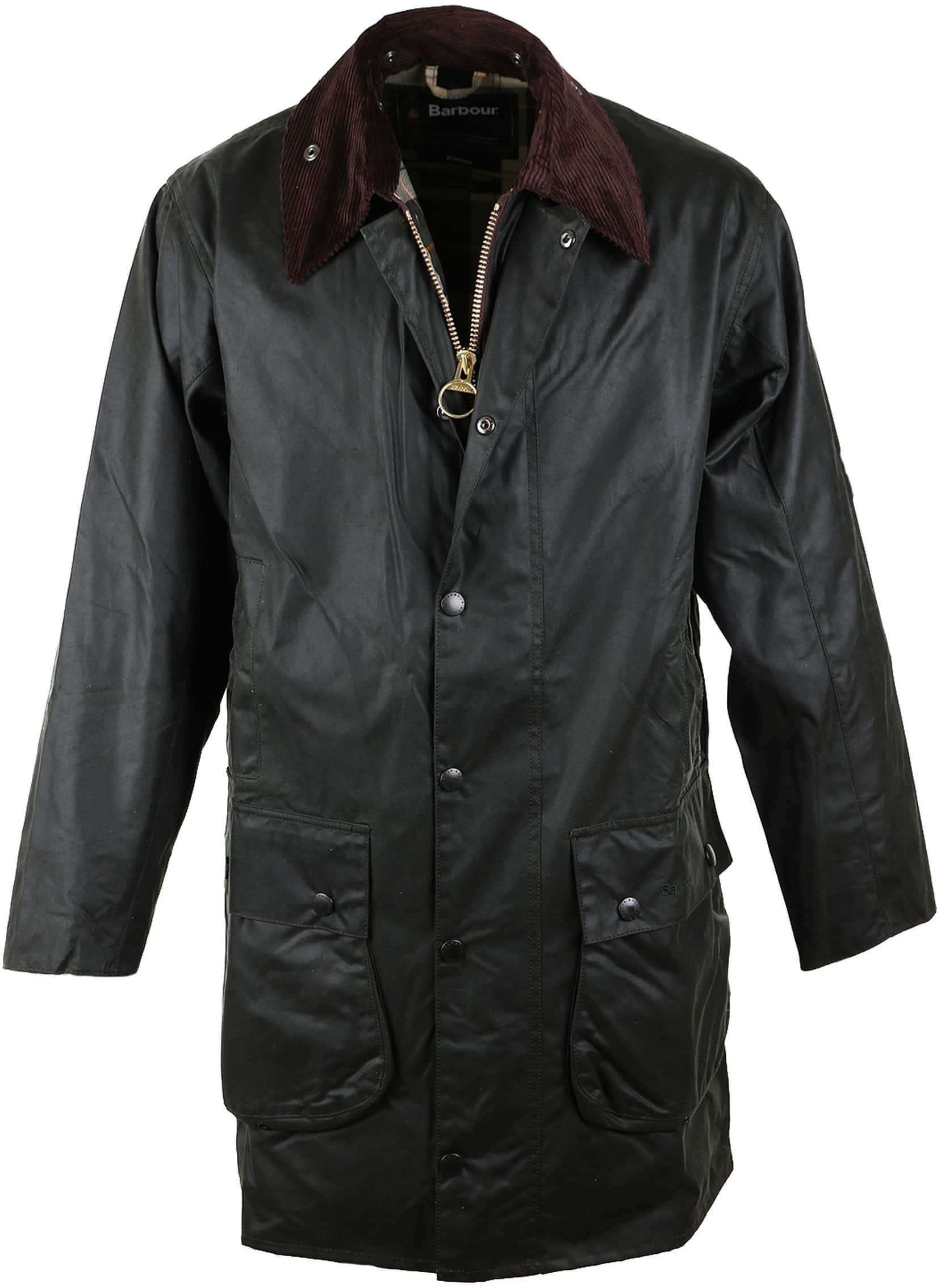 Barbour Border Wax Jas Groen foto 0