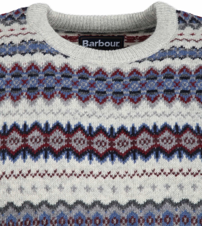 Barbour Fair Isle Trui Grijs foto 1