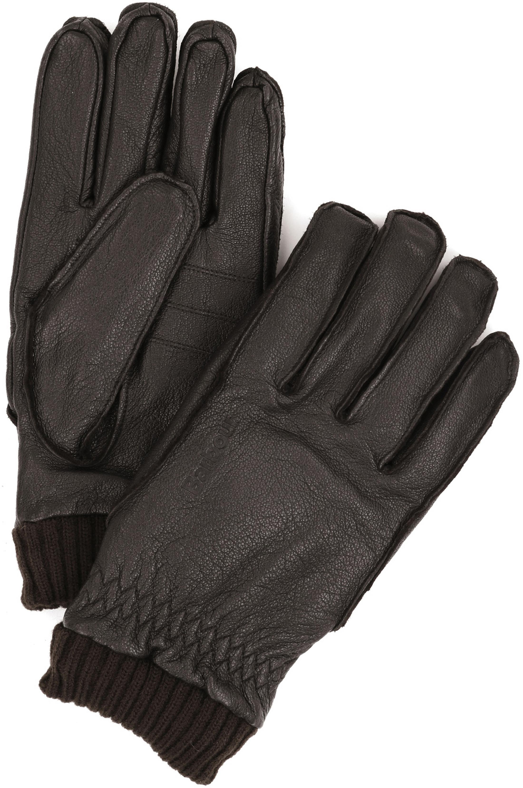 Barbour Handschoenen Donker Bruin