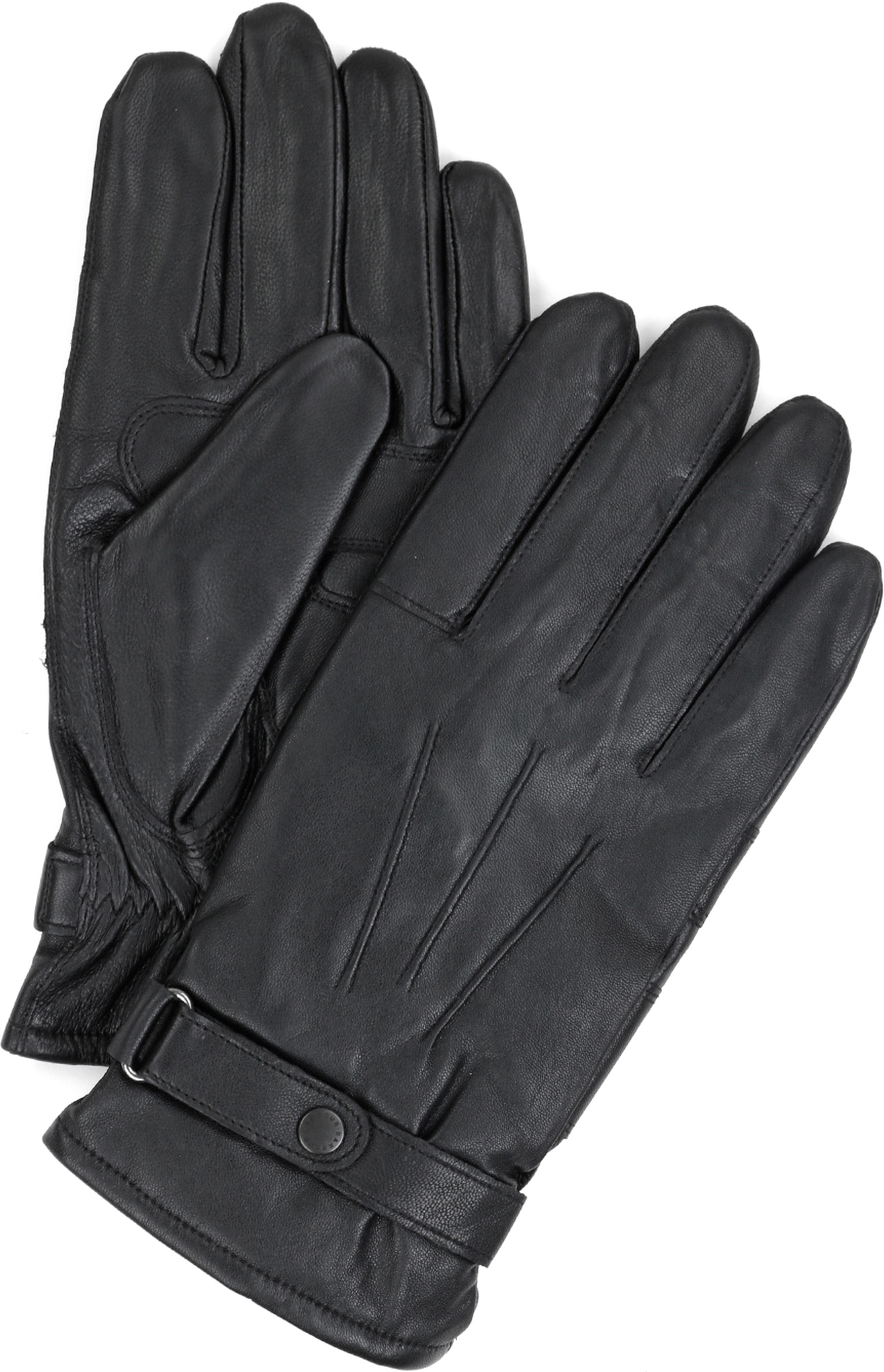Barbour Handschuhe Glattleder Schwarz