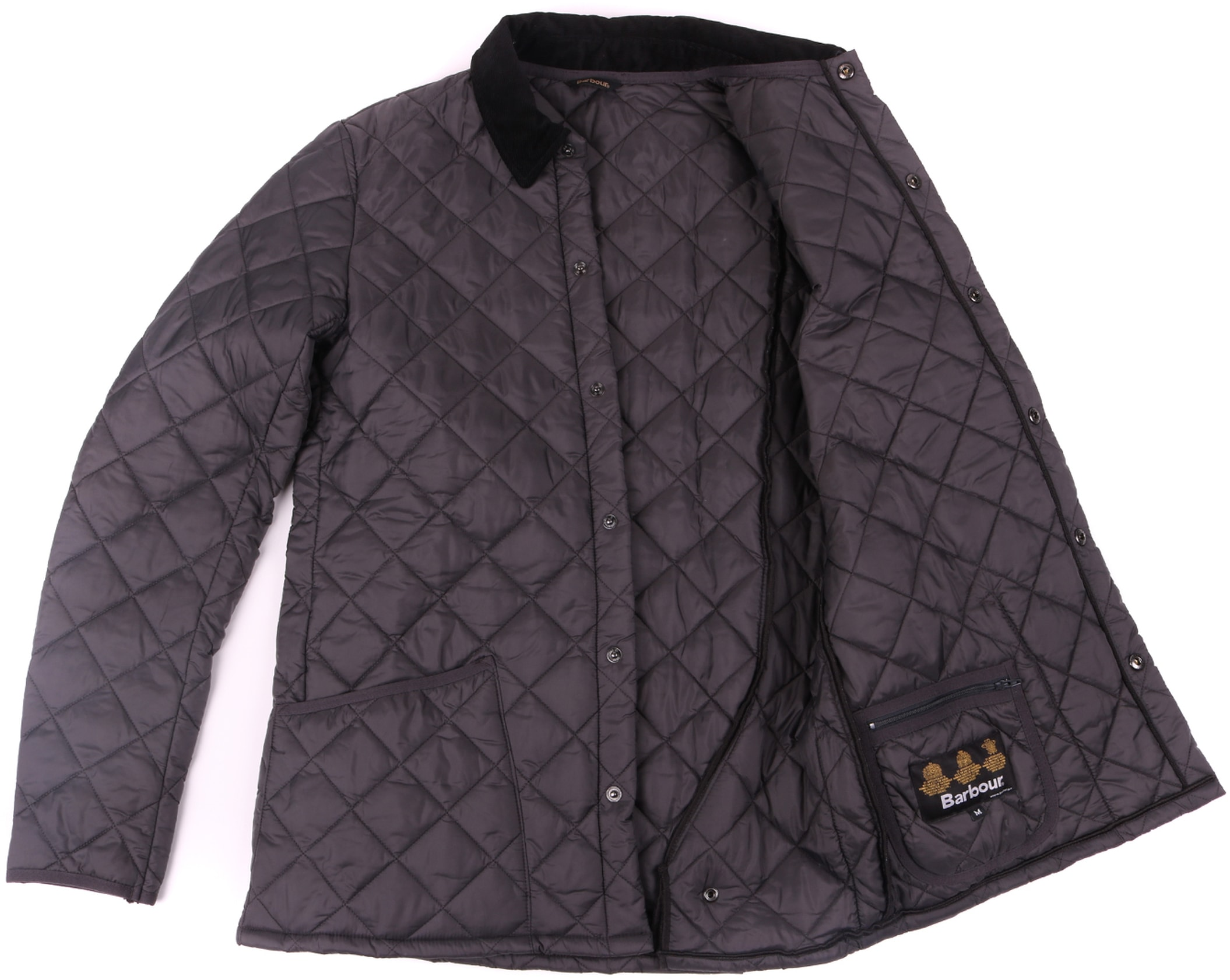 Barbour Heritage Liddesdale Quilt Charcoal foto 3