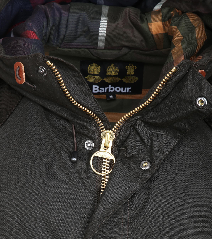 Barbour Louth Waxjas Donkerbruin foto 2