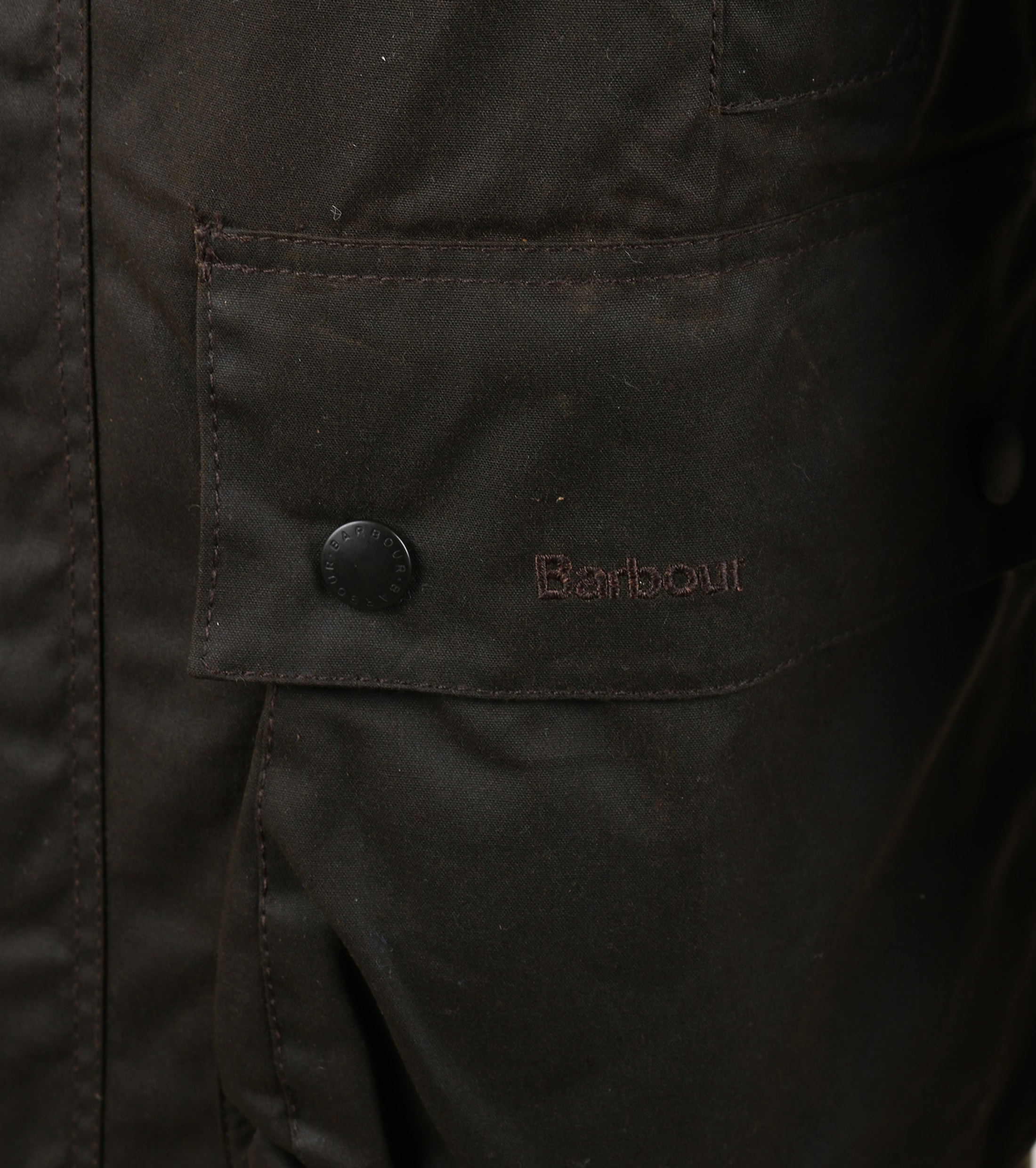 Barbour Northumbria Wax Jas Groen foto 5
