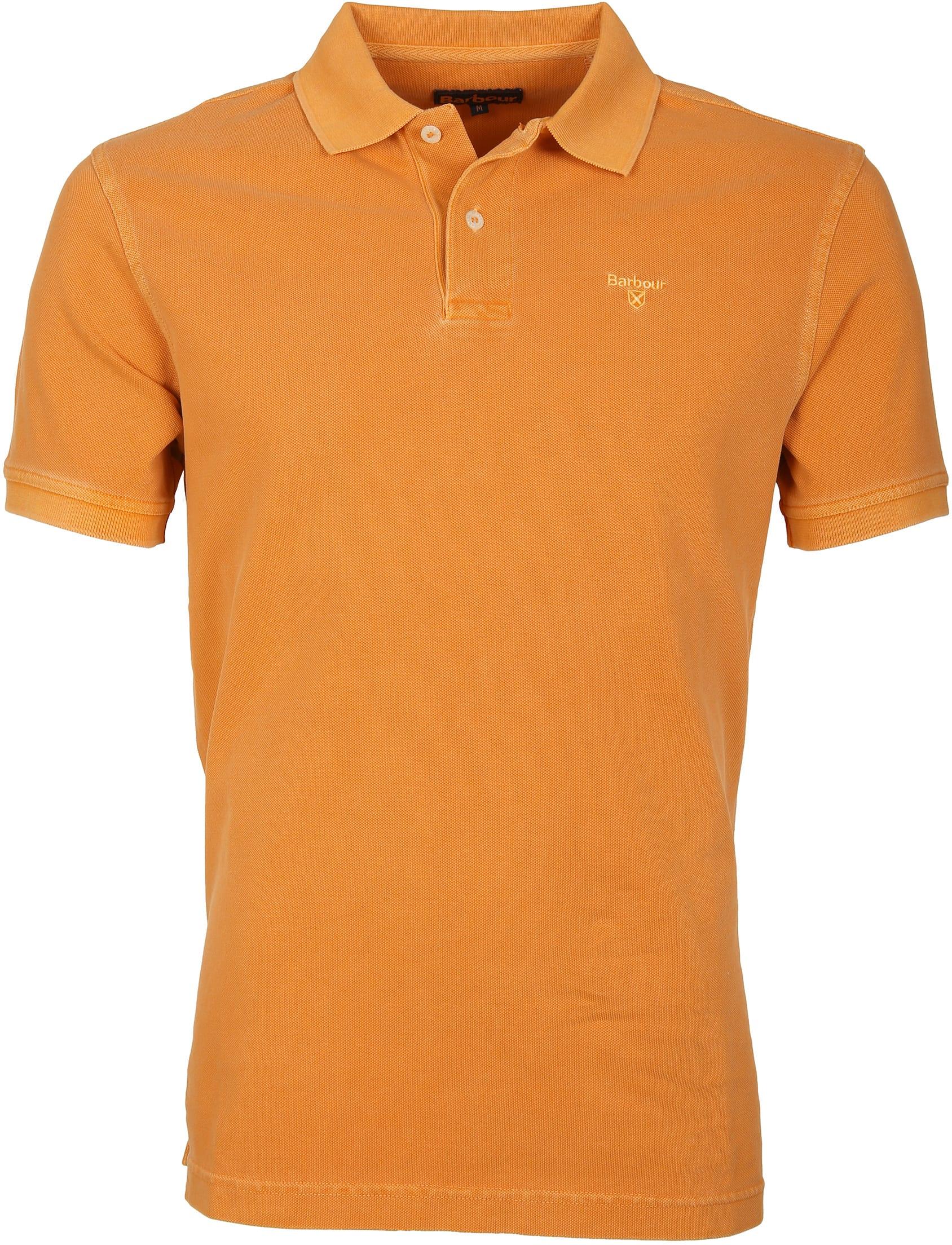 Barbour Poloshirt Orange Wash foto 0