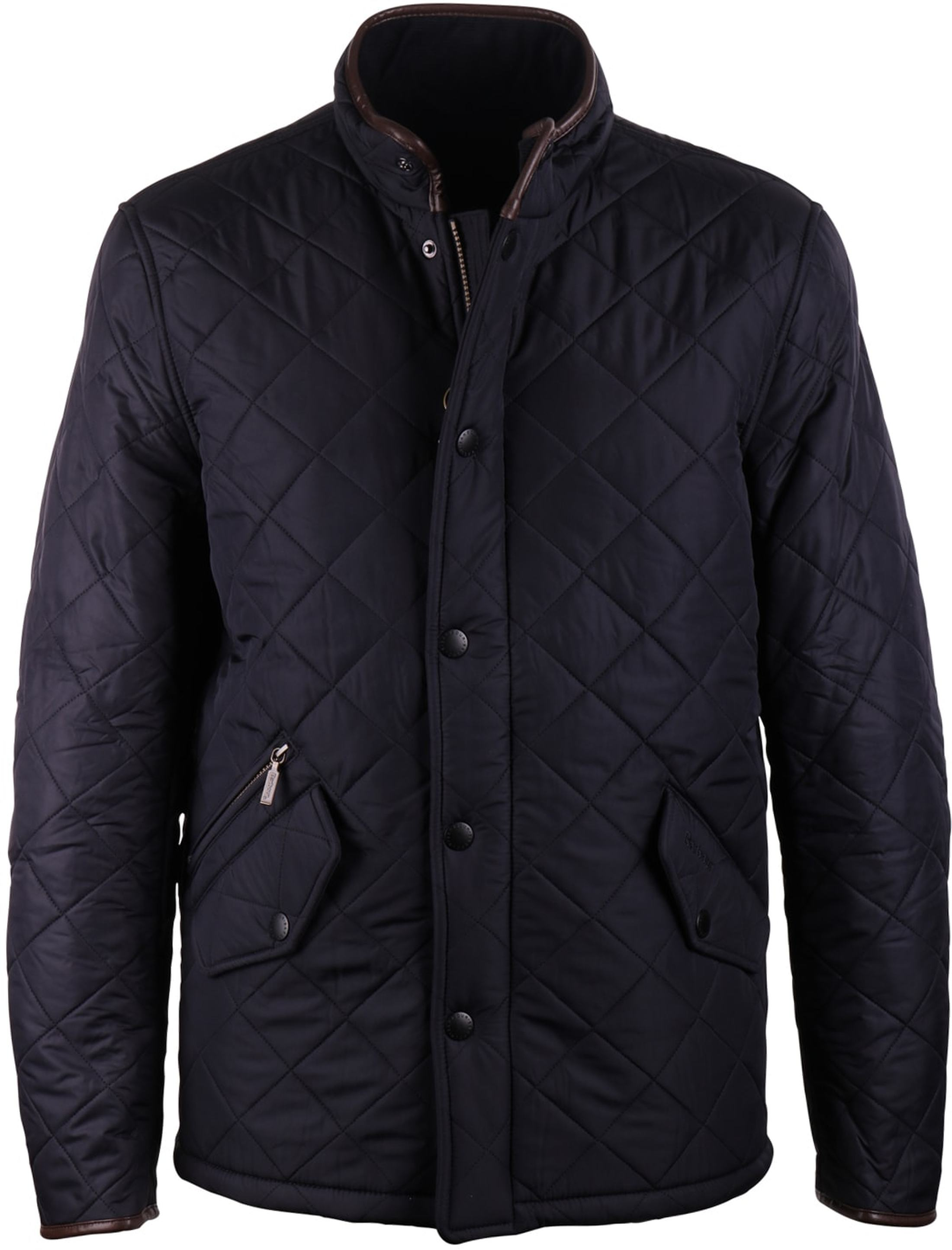 Barbour Quilted Jas Powell Navy foto 0