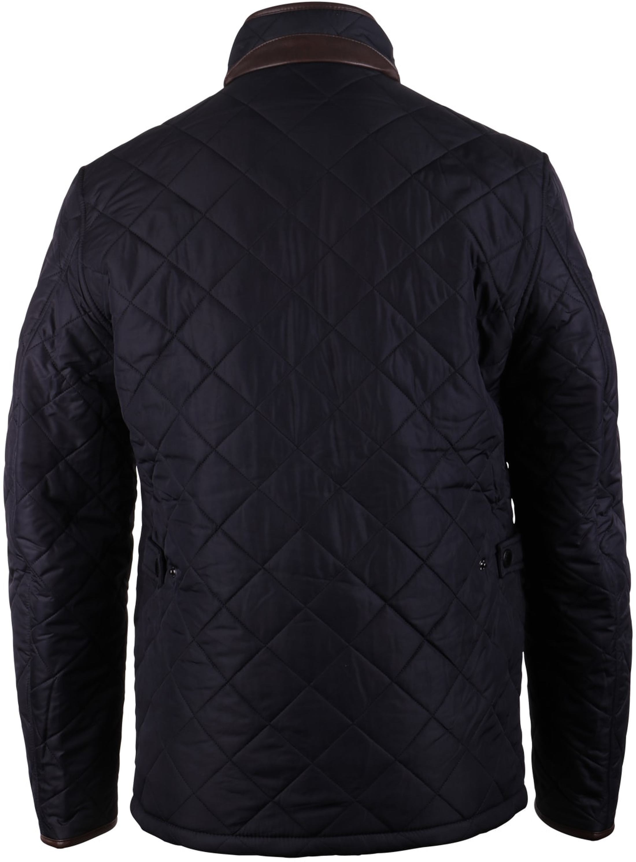 Barbour Quilted Jas Powell Navy foto 1