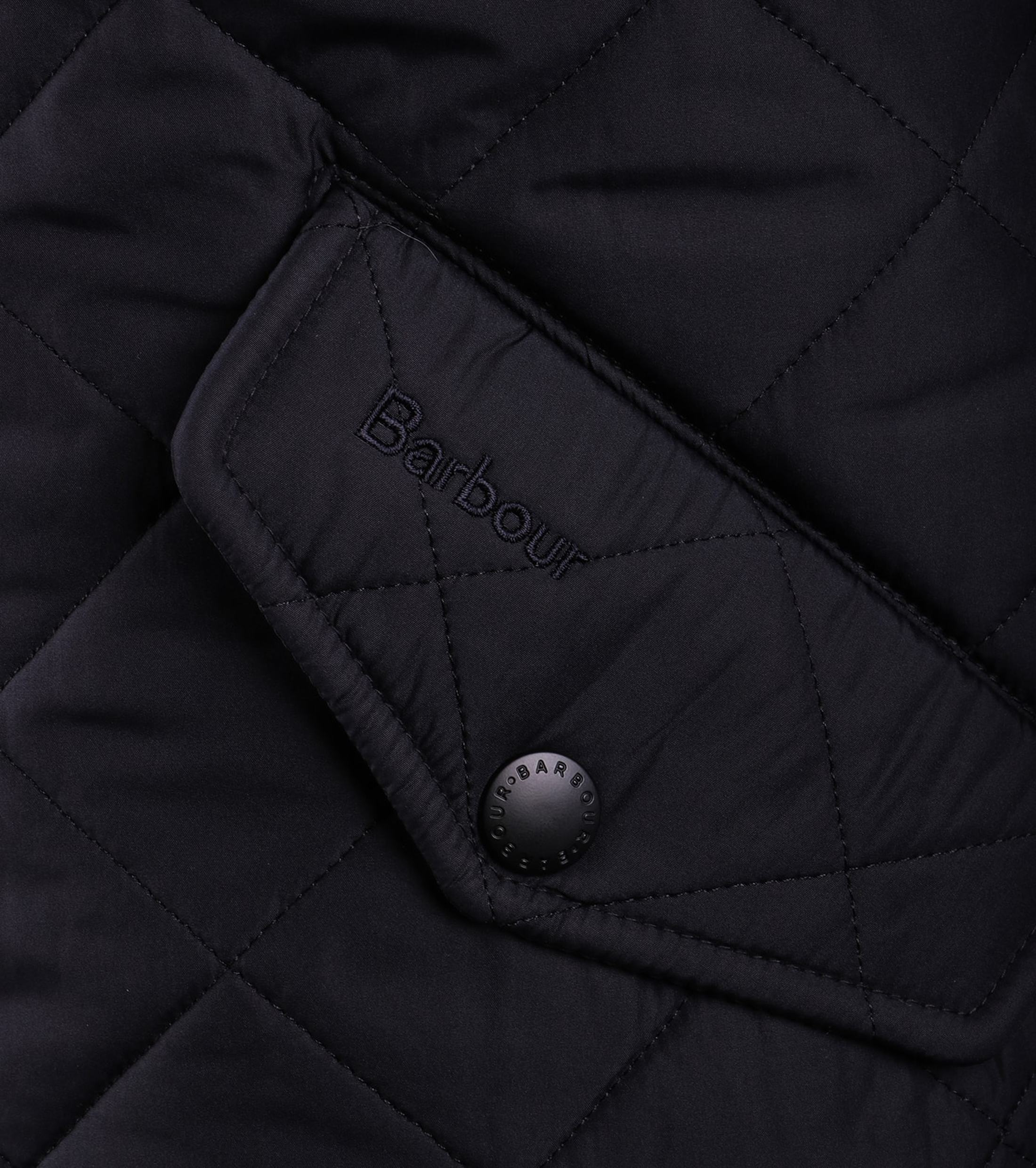 Barbour Quilted Jas Powell Navy foto 3
