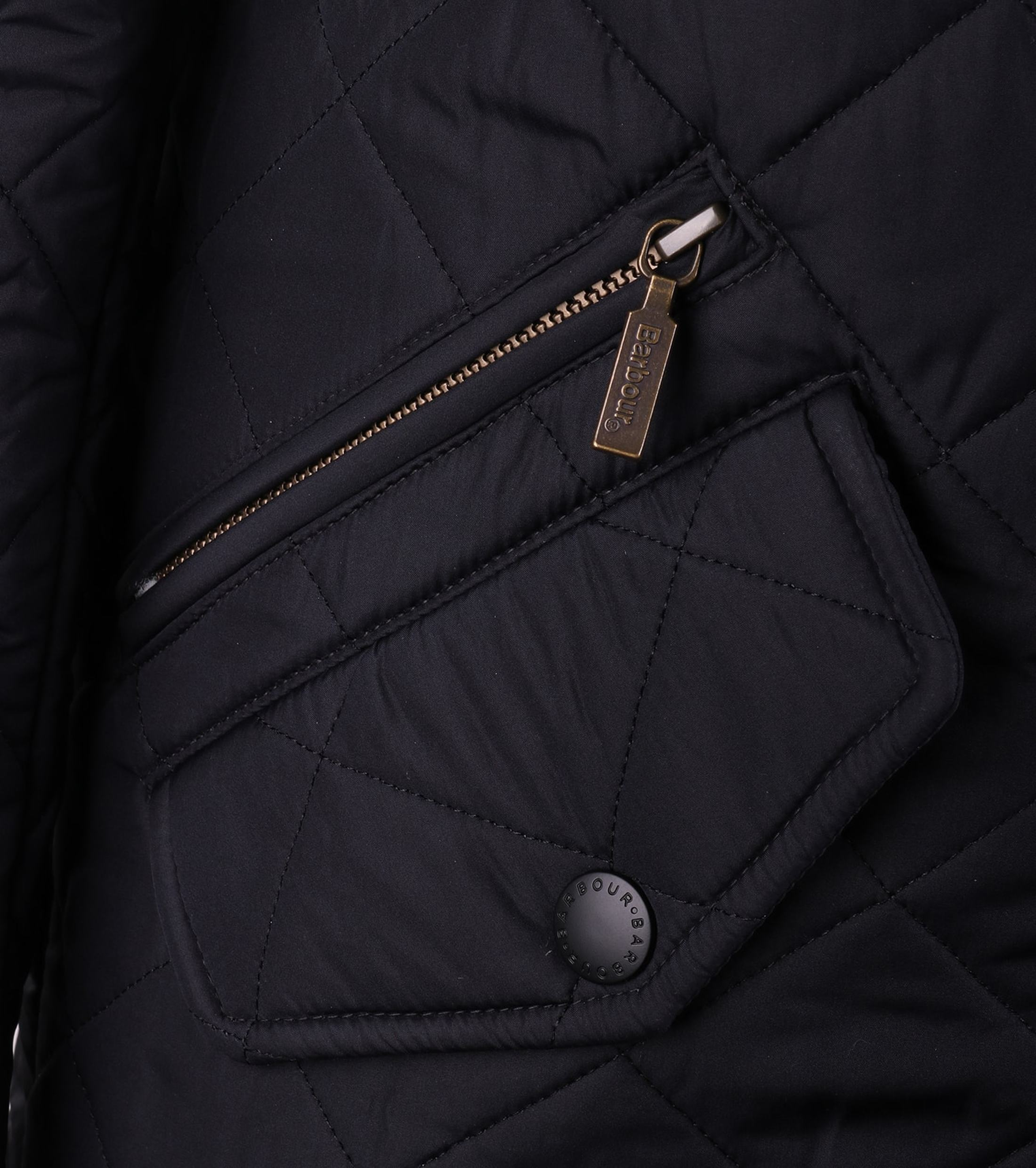 Barbour Quilted Jas Powell Navy foto 5