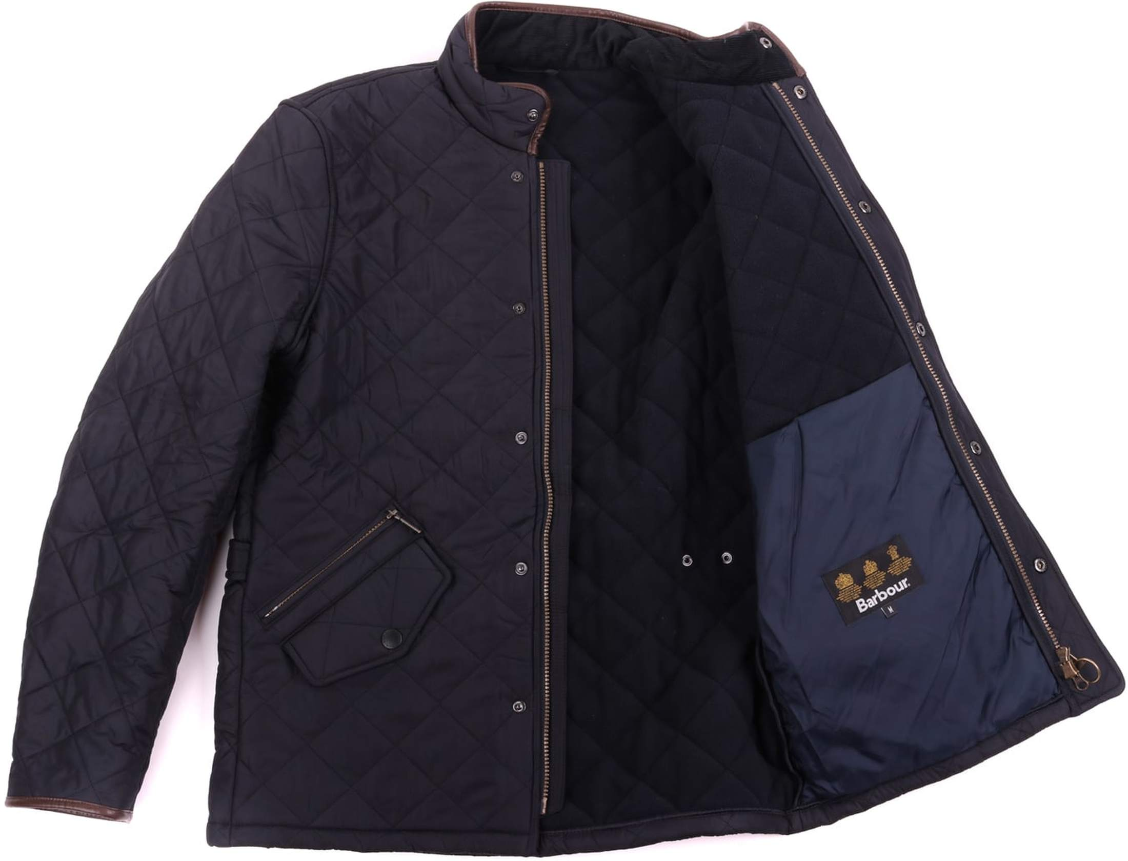 Barbour Quilted Jas Powell Navy foto 6