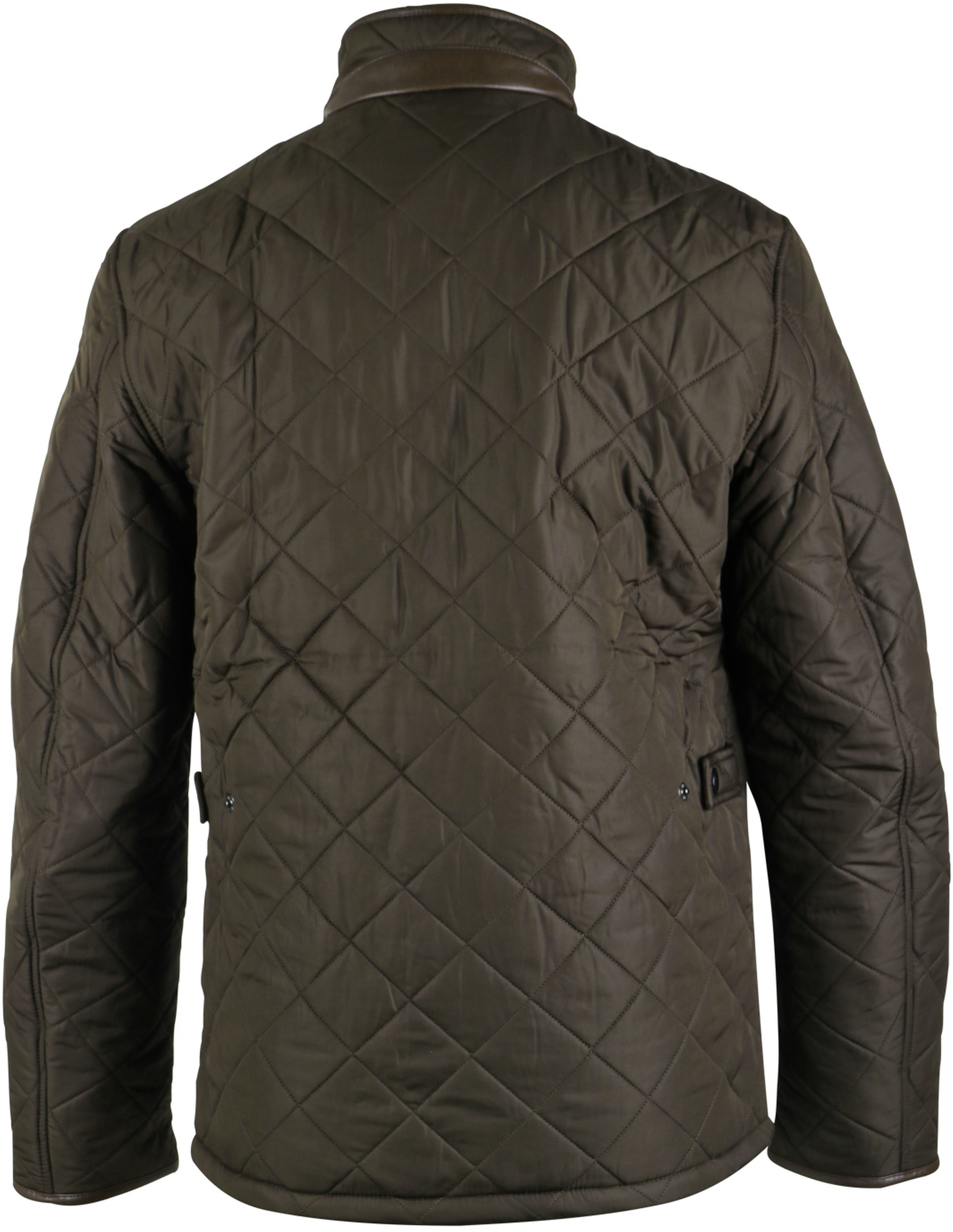 Barbour Quilted Jas Powell Olijf foto 4
