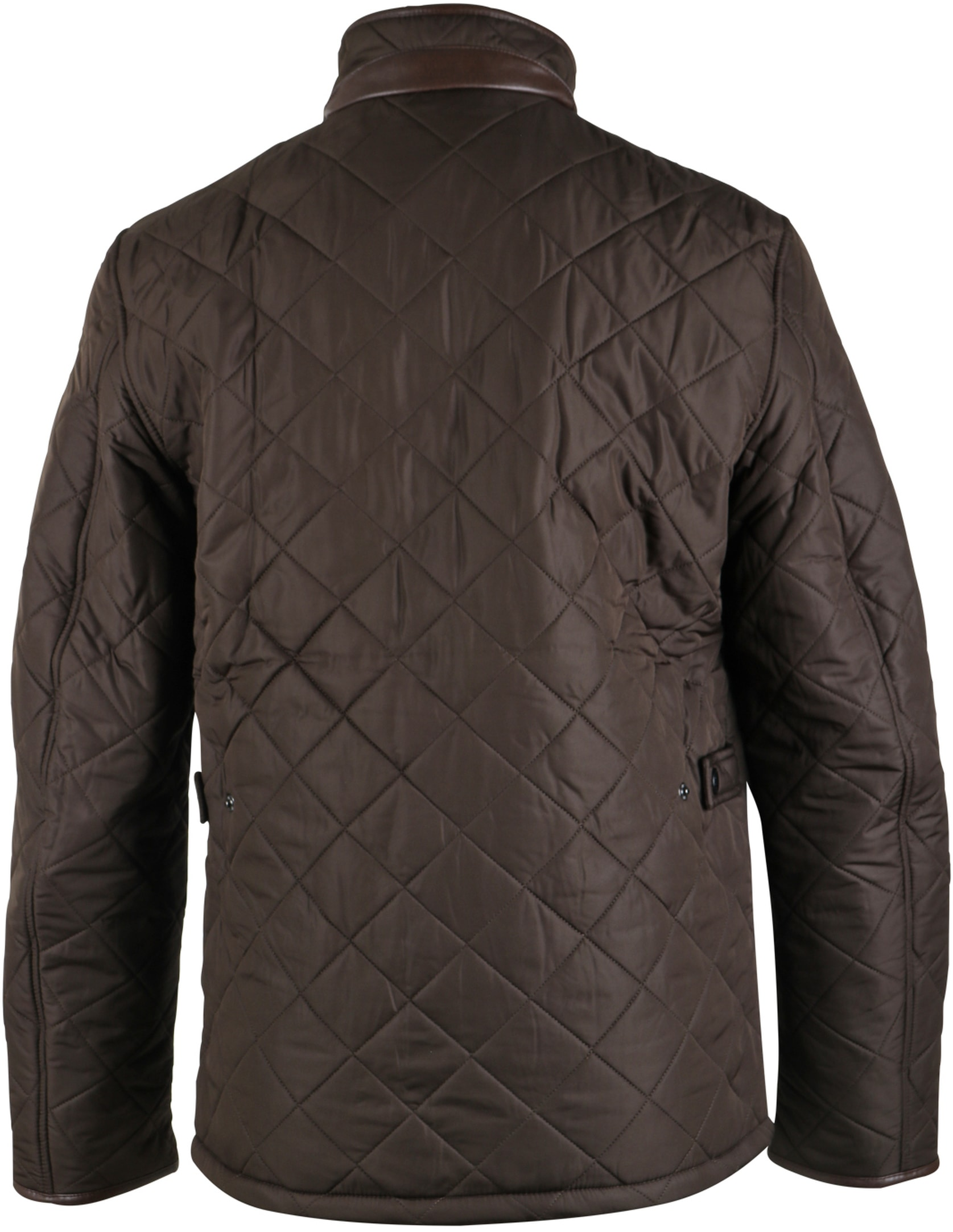 Barbour Quilted Jas Powell Olijf foto 1