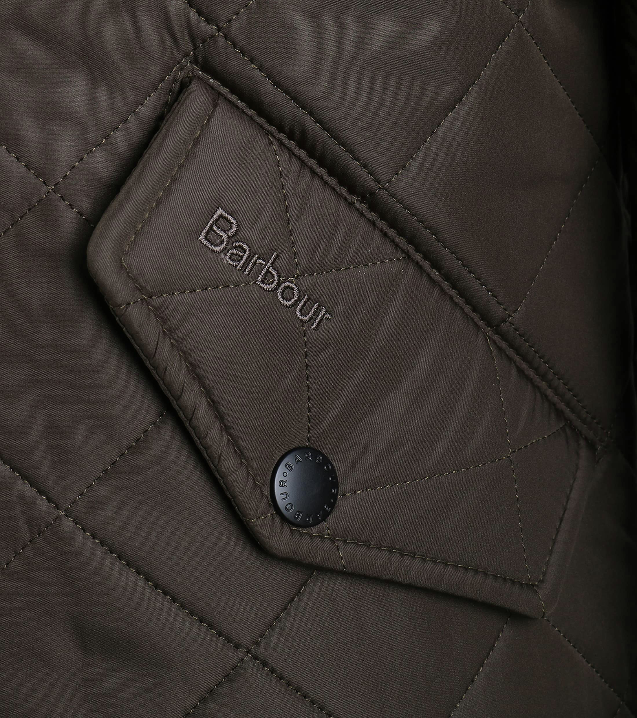 Barbour Quilted Jas Powell Olijf foto 2