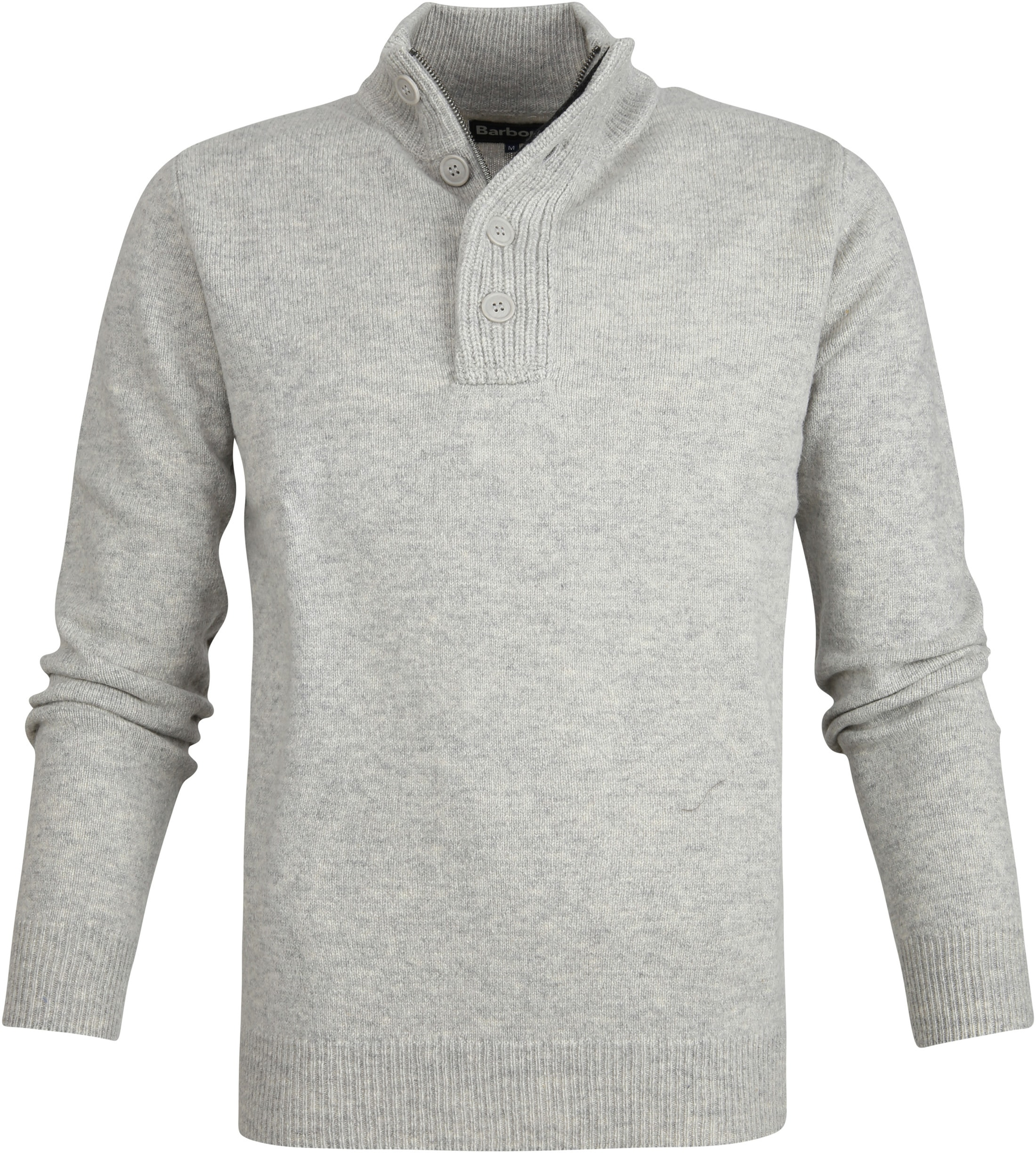 Barbour Sweater Wool Patch Grey foto 0