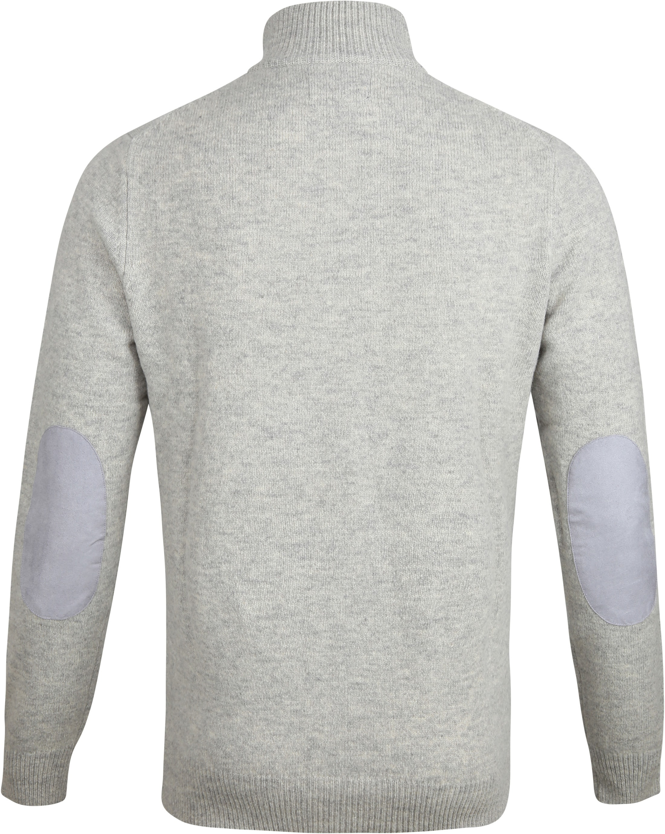 Barbour Sweater Wool Patch Grey foto 2