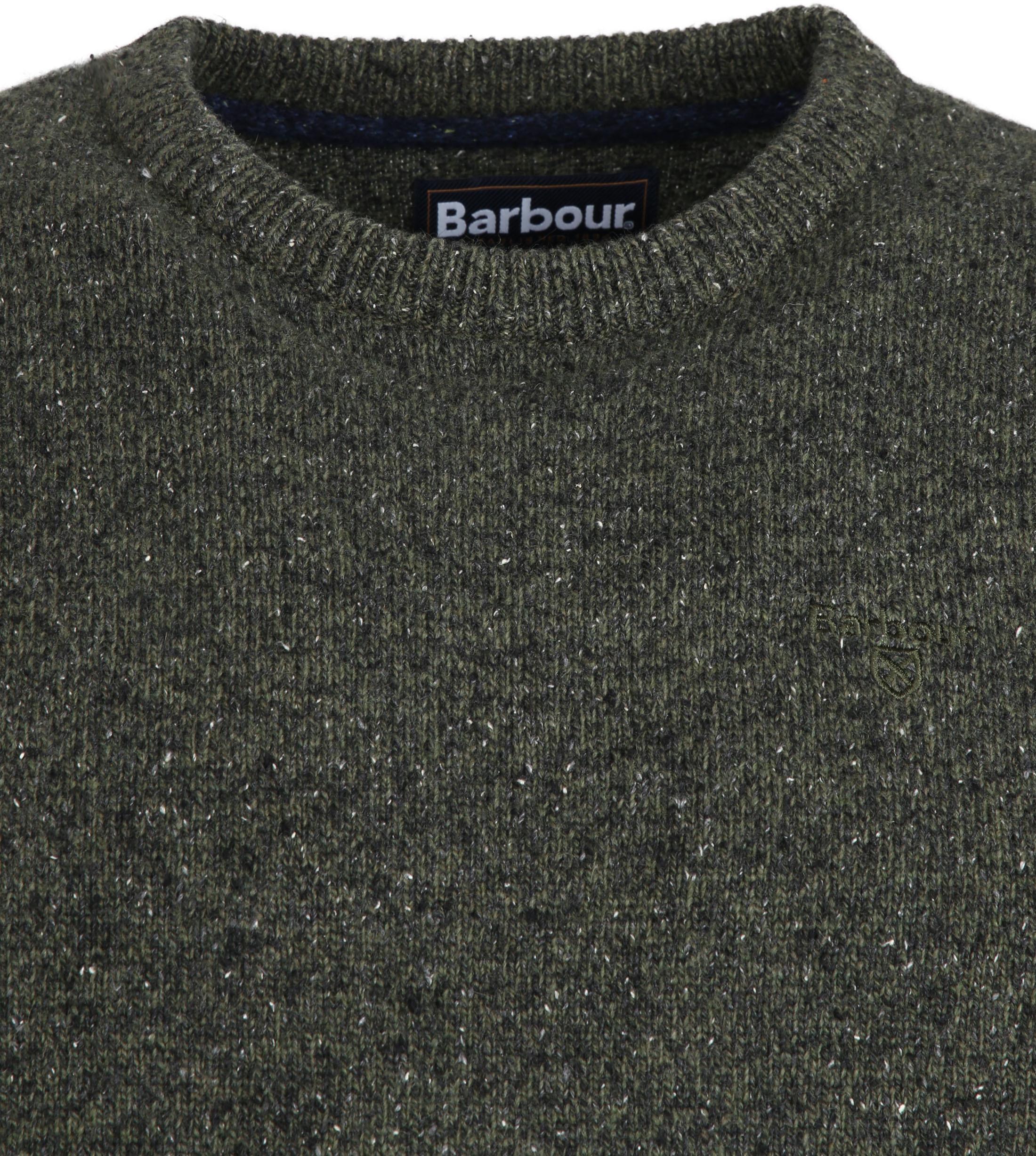 Barbour Tisbury Trui Donkergroen