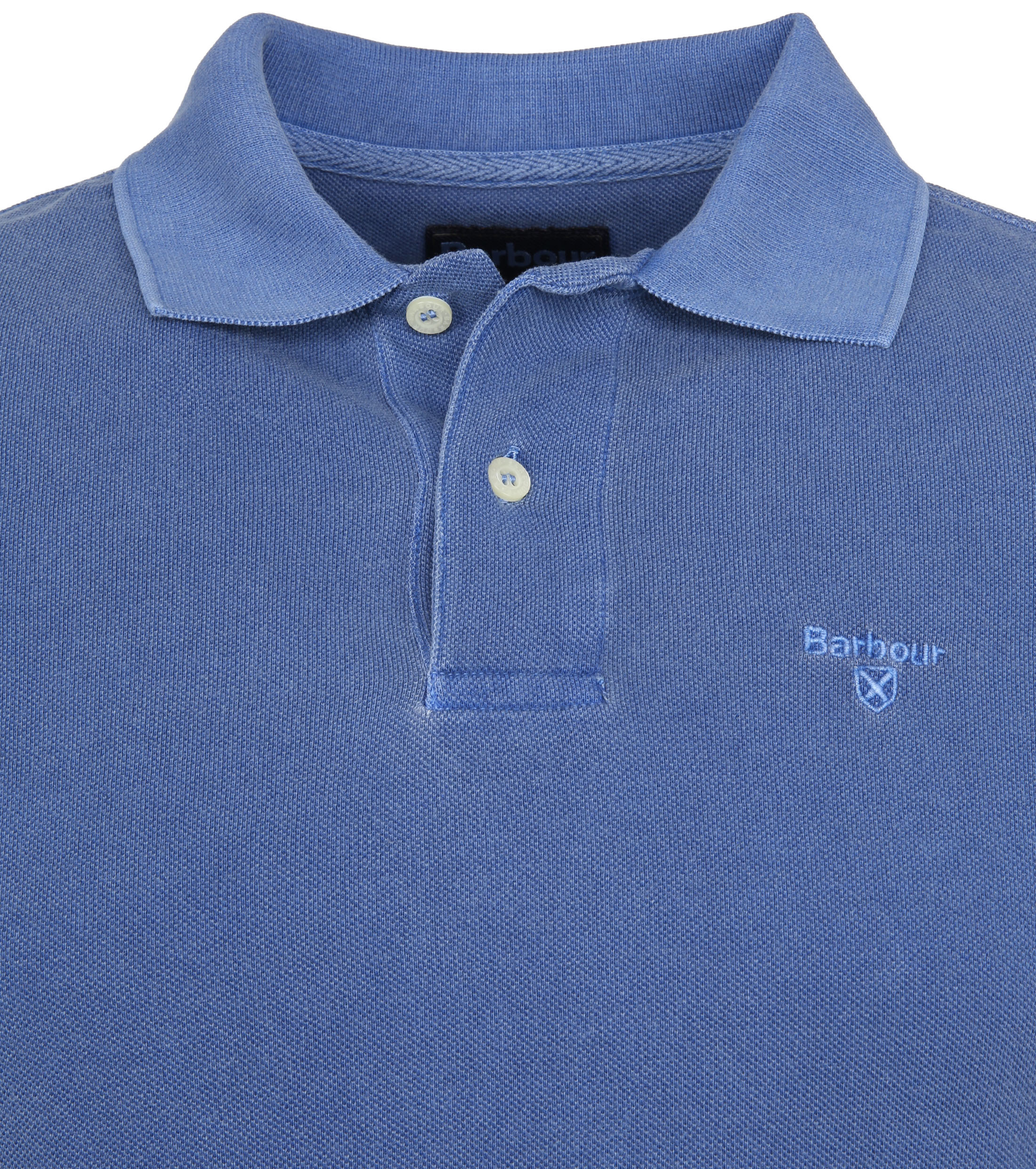 Barbour Washed Polo Blue foto 1