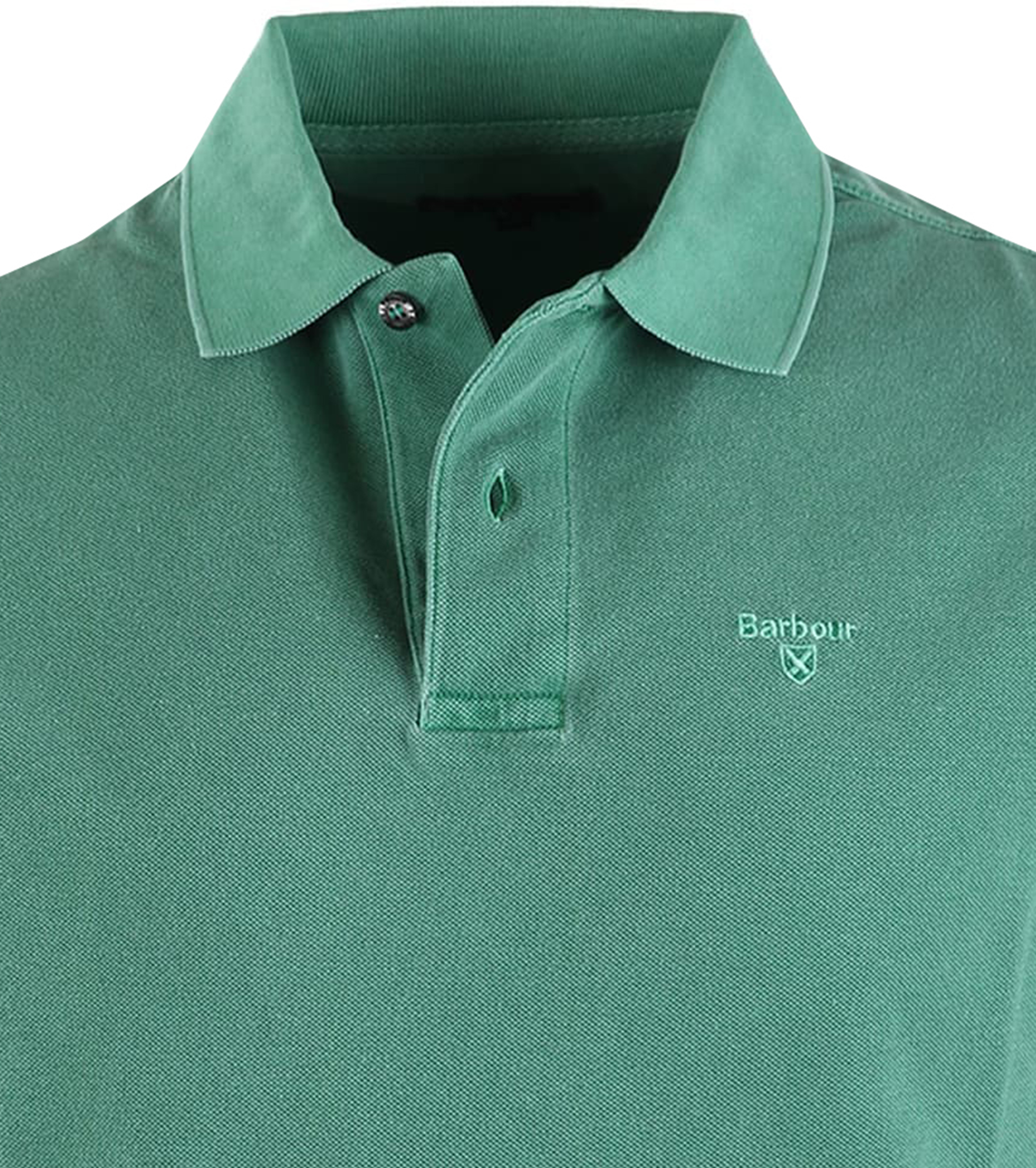 Barbour Washed Polo Groen foto 1