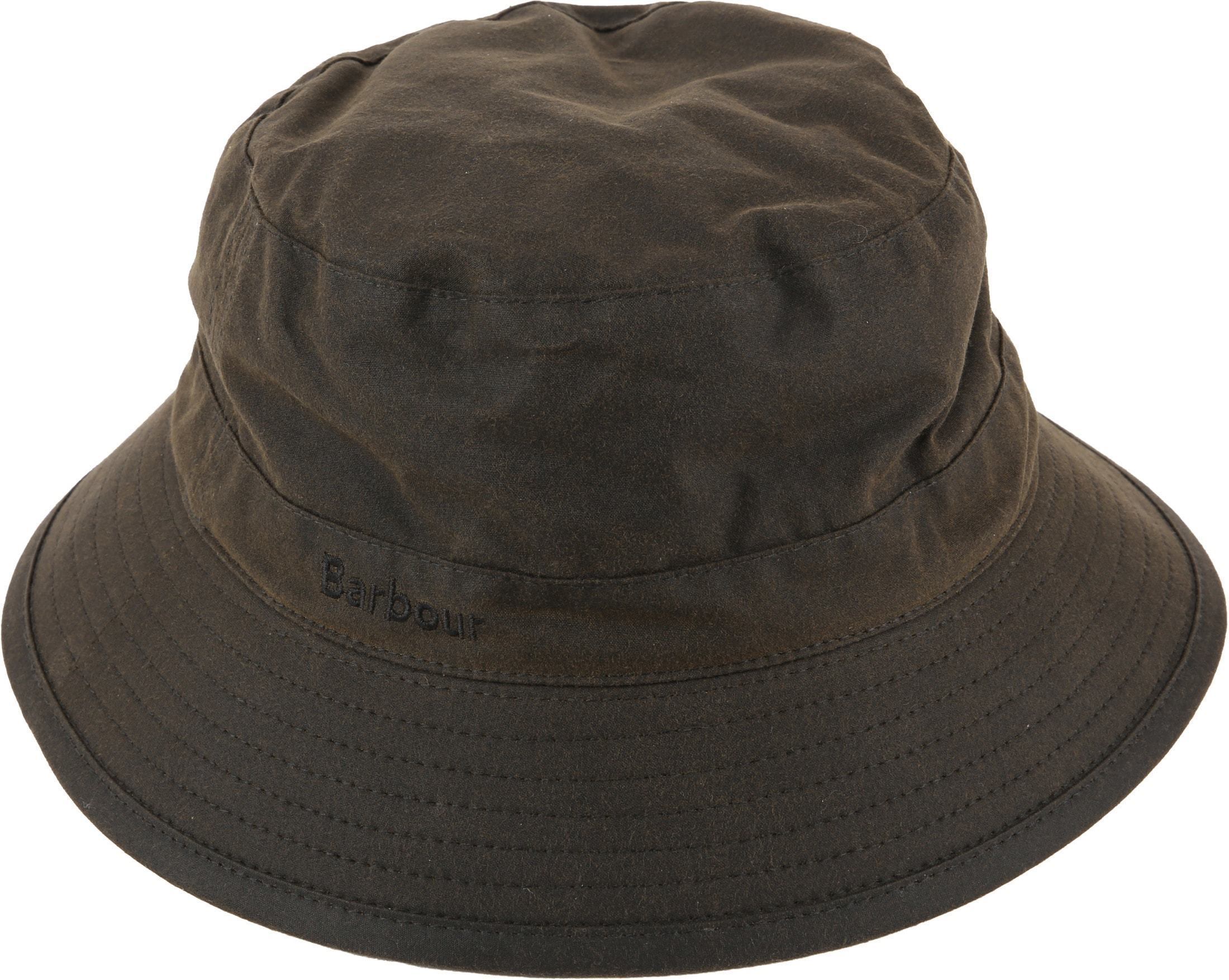 Barbour Wax Hat Army foto 0