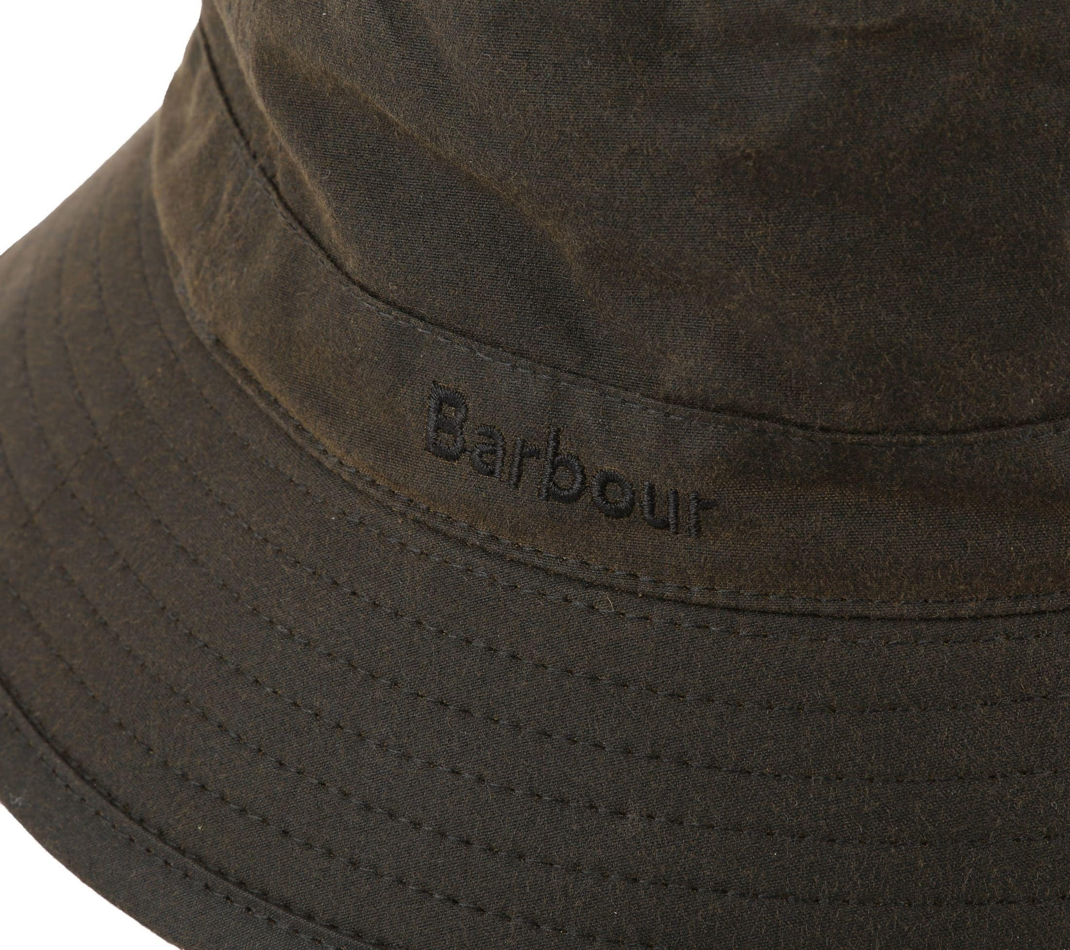 Barbour Wax Hat Army foto 1