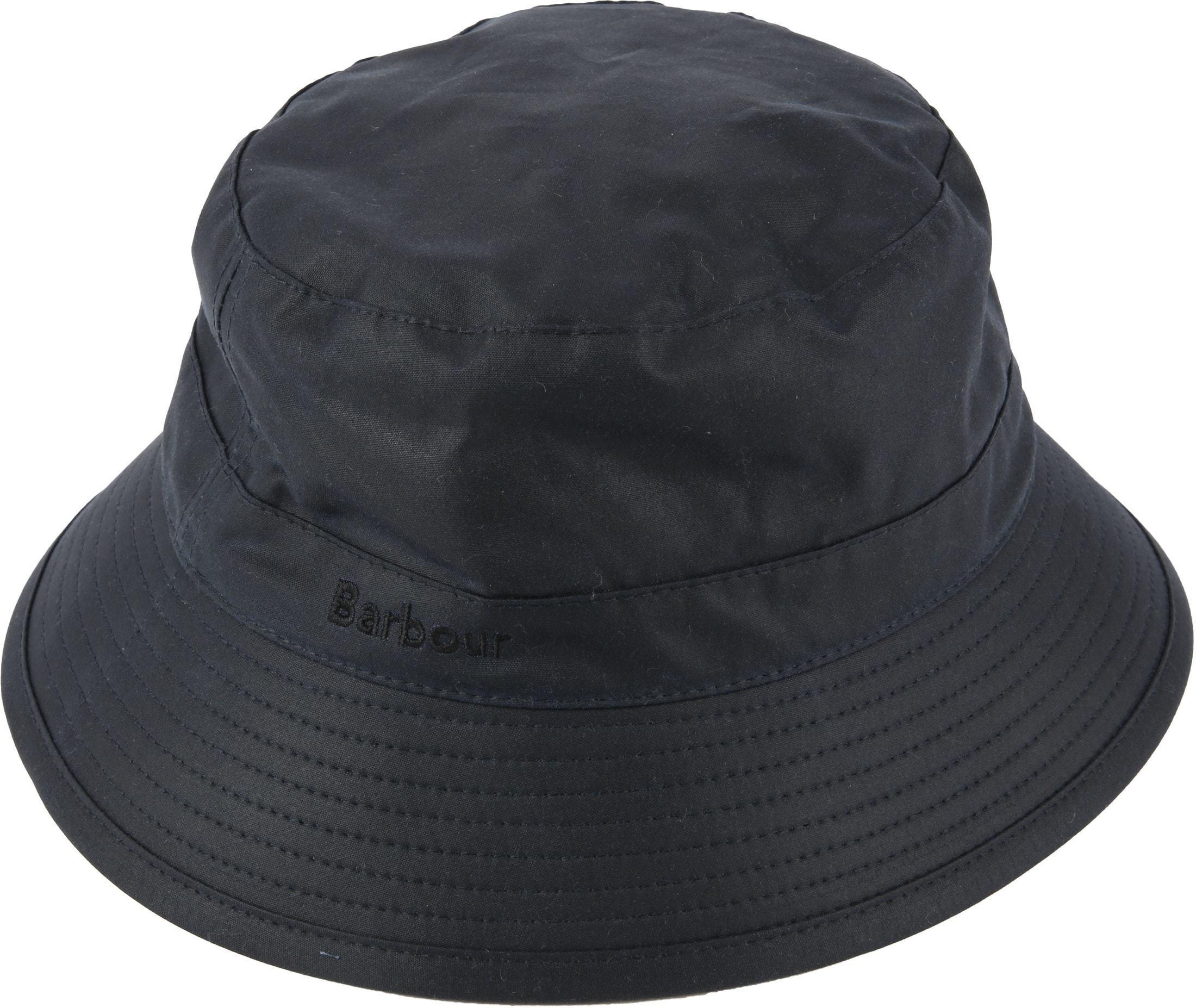 Barbour Wax Hat Navy foto 0
