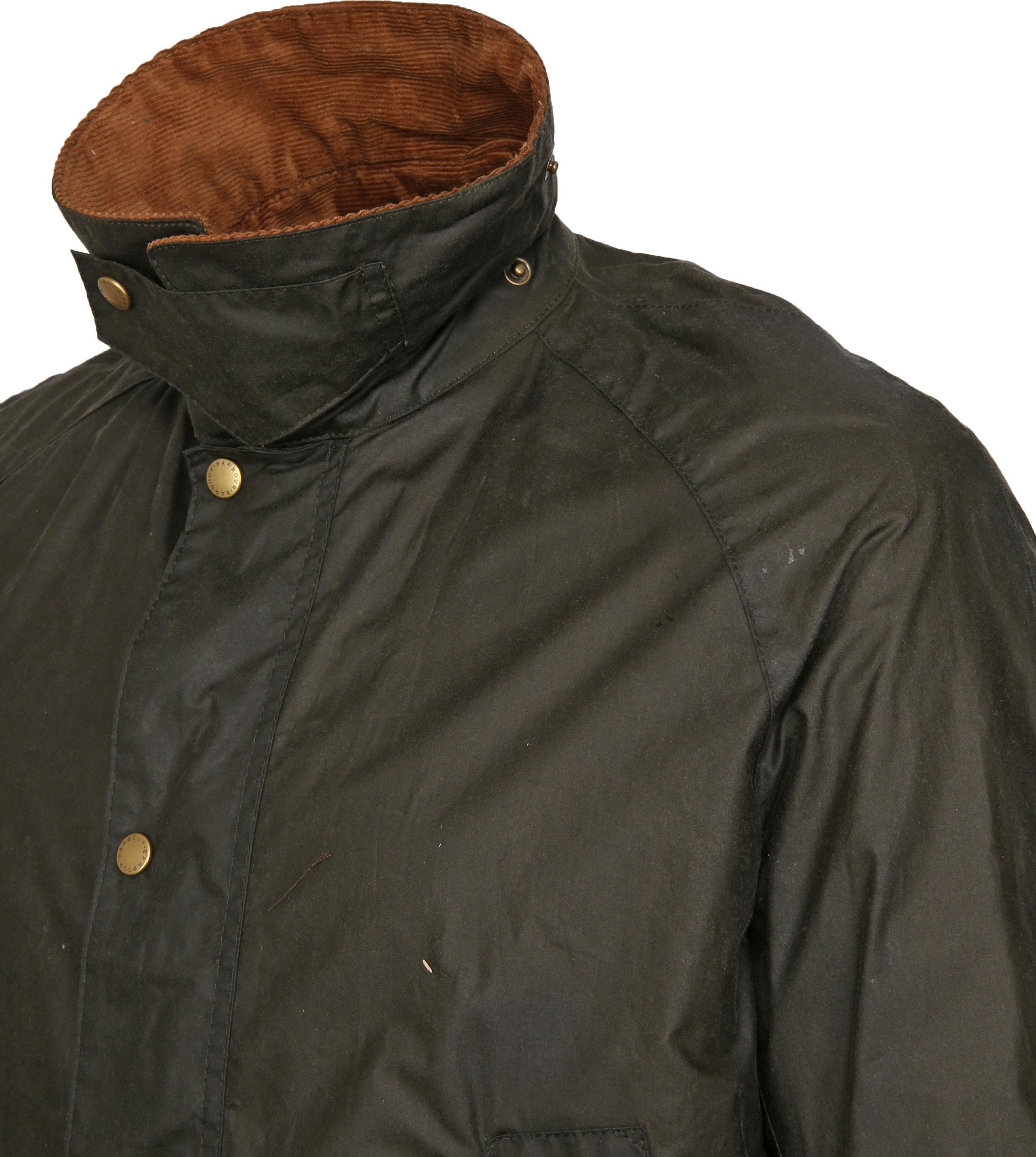 Barbour Wax Jacket Ashby Darkgreen foto 3