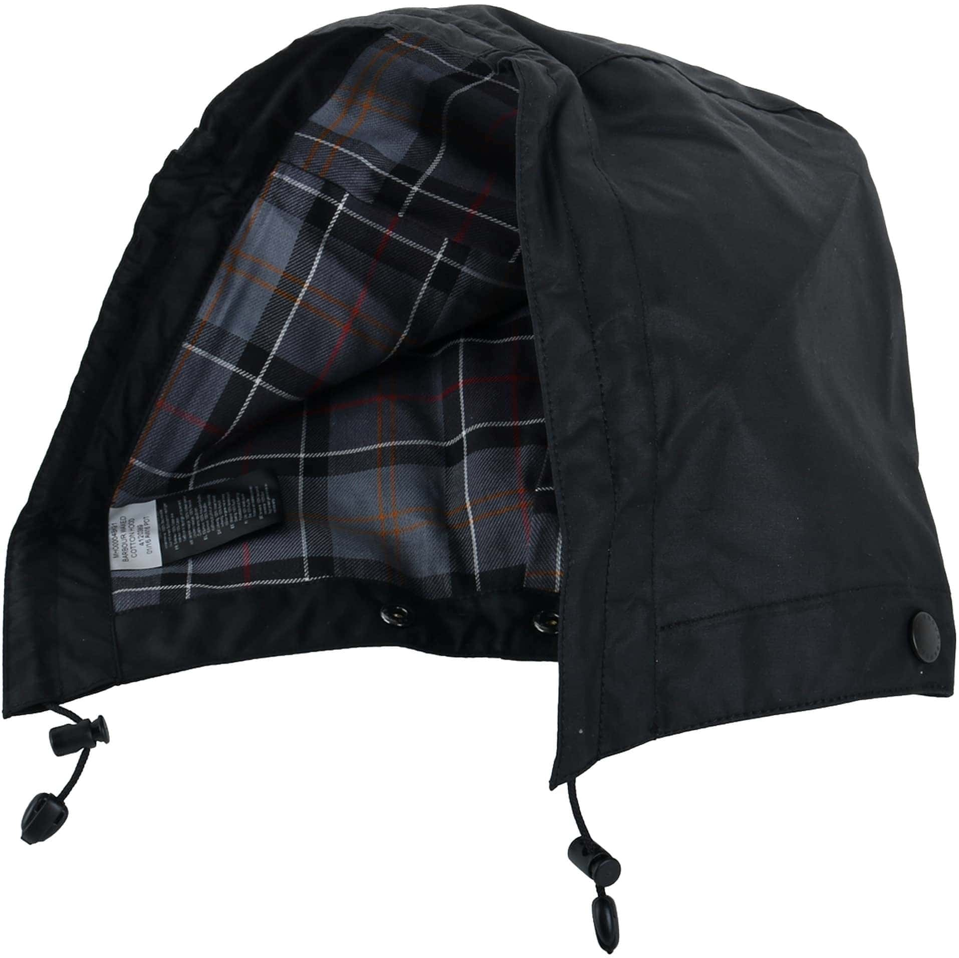 Barbour Waxed Cotton Hood Black foto 0