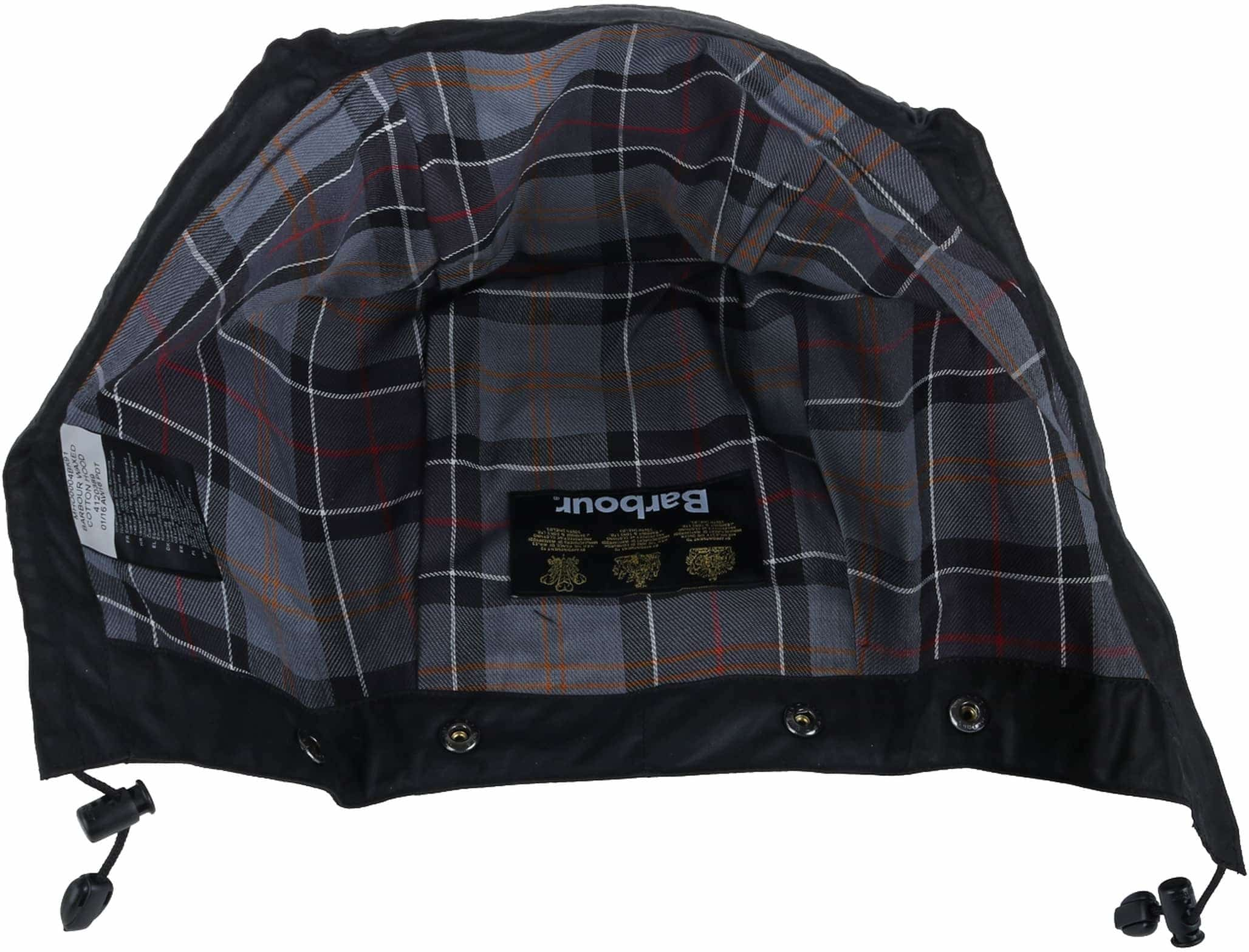 Barbour Waxed Cotton Hood Black foto 1