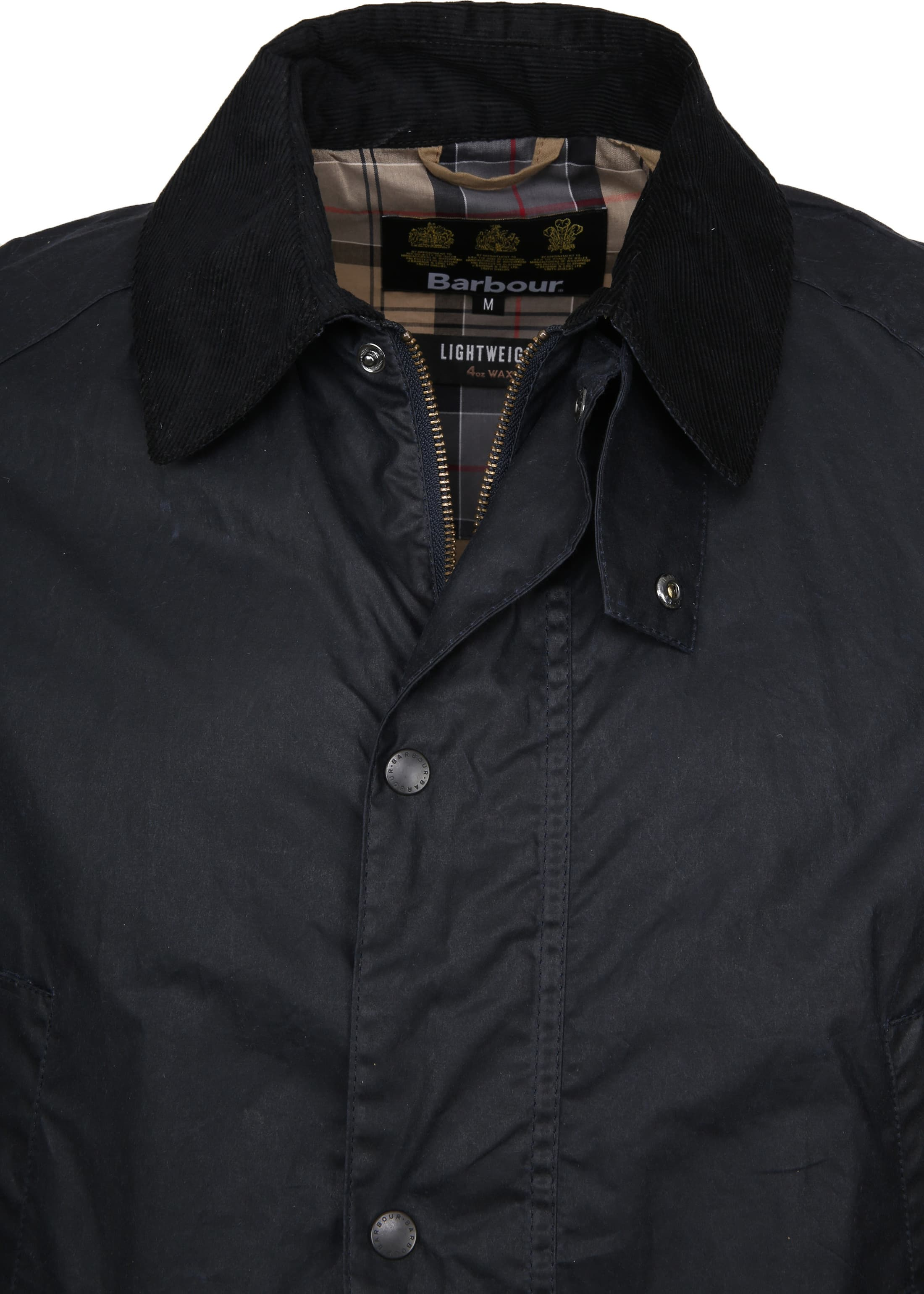 Barbour Waxjas Ashby Navy foto 1
