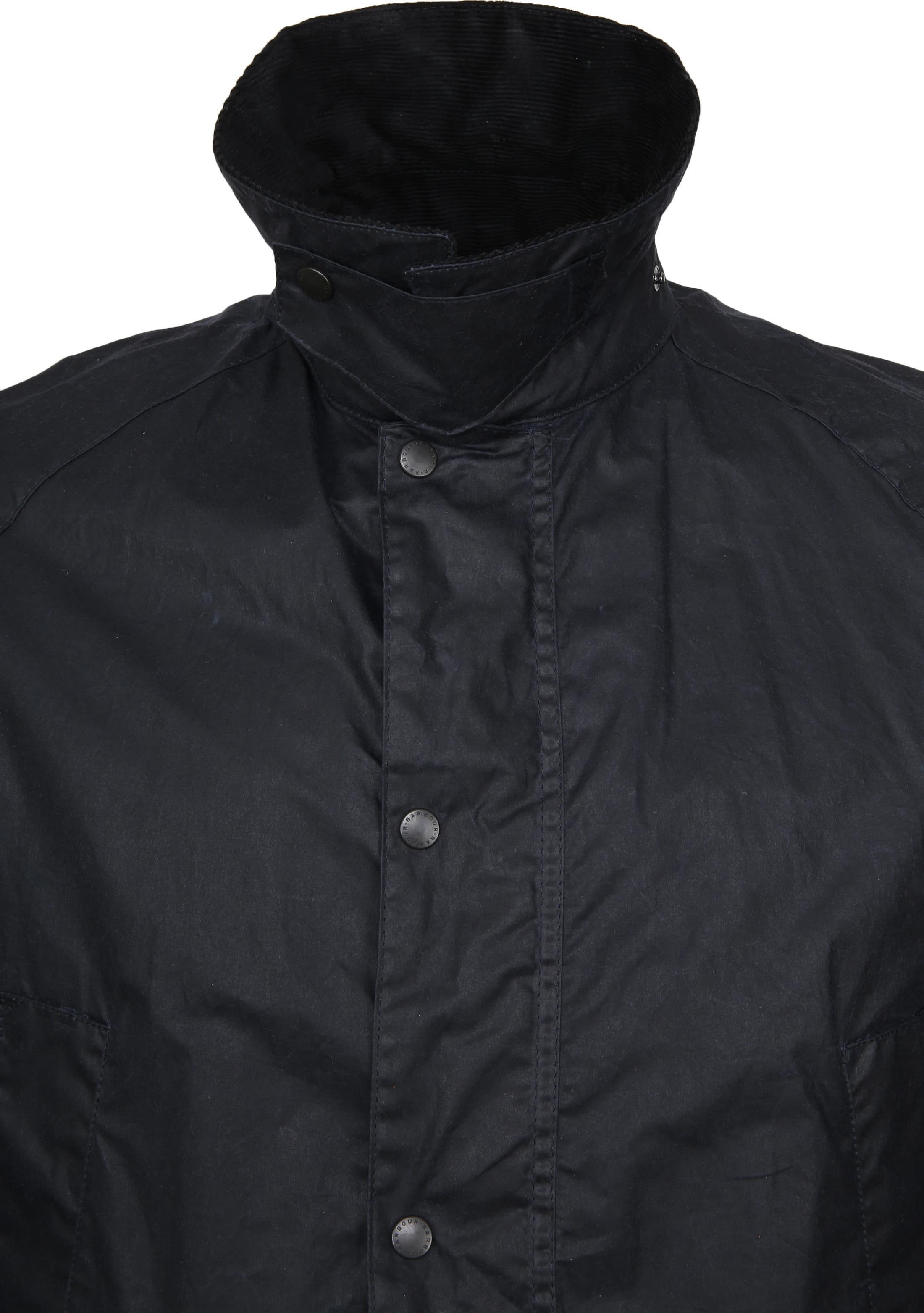 Barbour Waxjas Ashby Navy foto 2