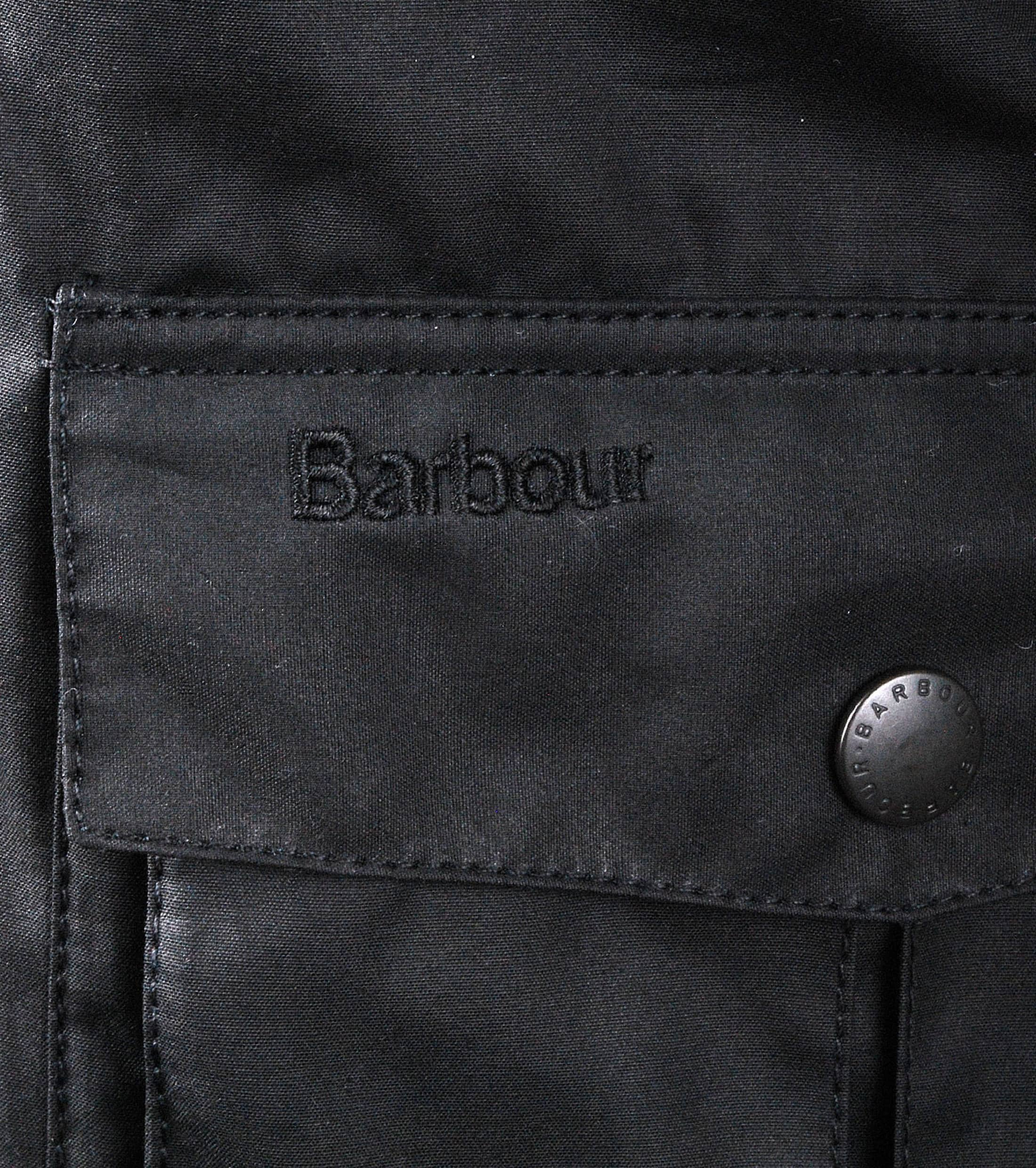 Barbour Waxjas Corbridge Zwart foto 4