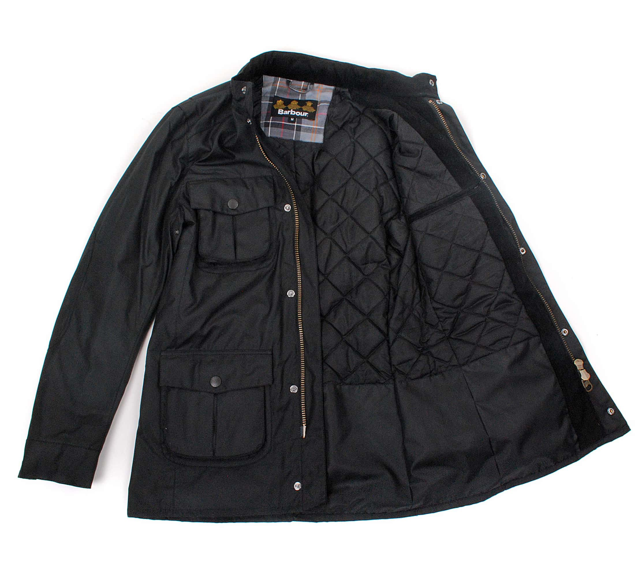 Barbour Waxjas Corbridge Zwart foto 6