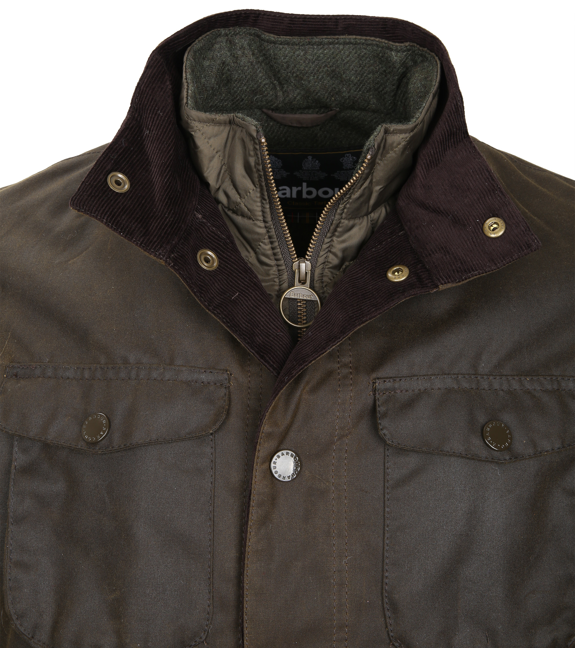 Barbour Waxjas Ogston Olive foto 1