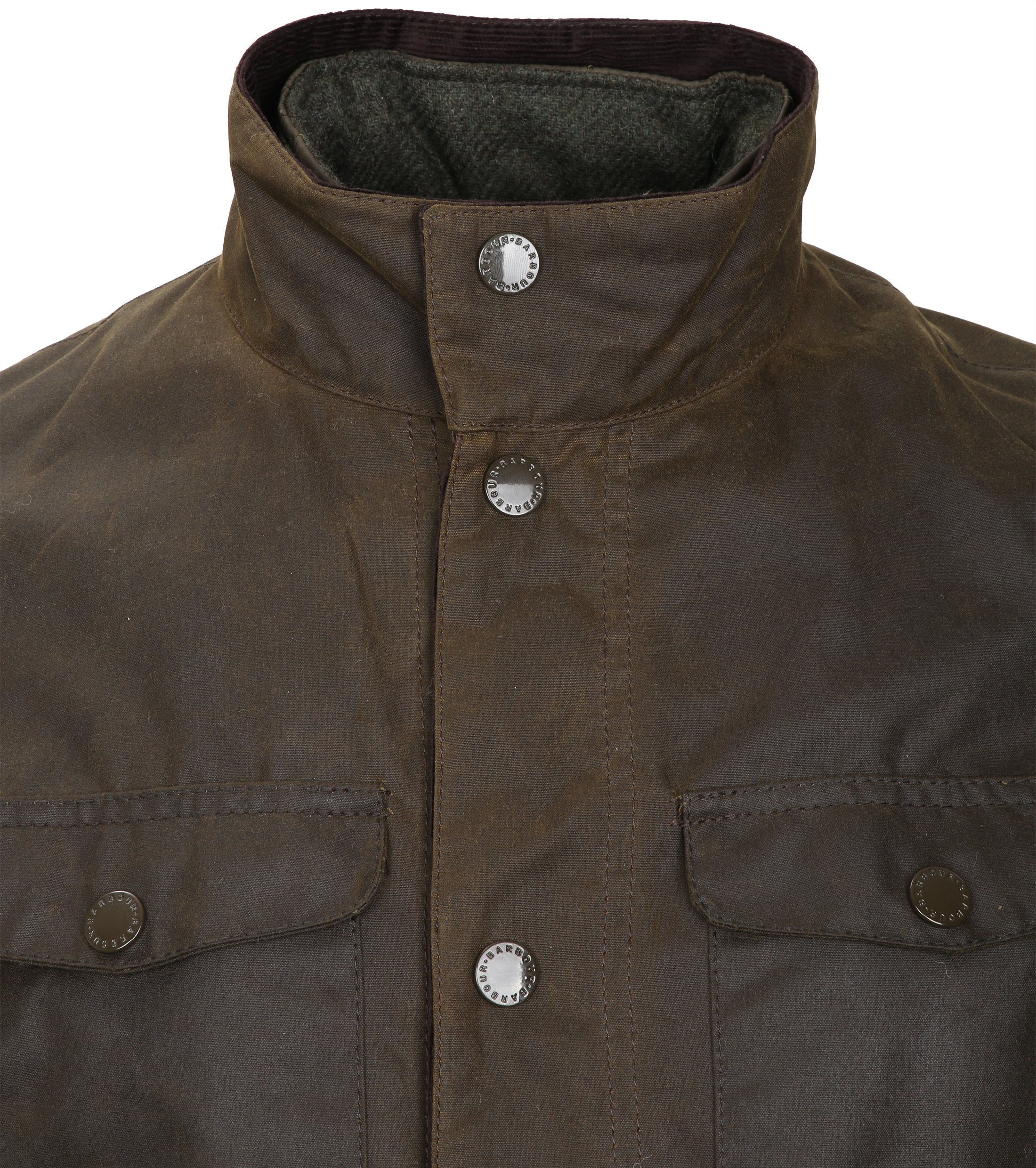 Barbour Waxjas Ogston Olive foto 4