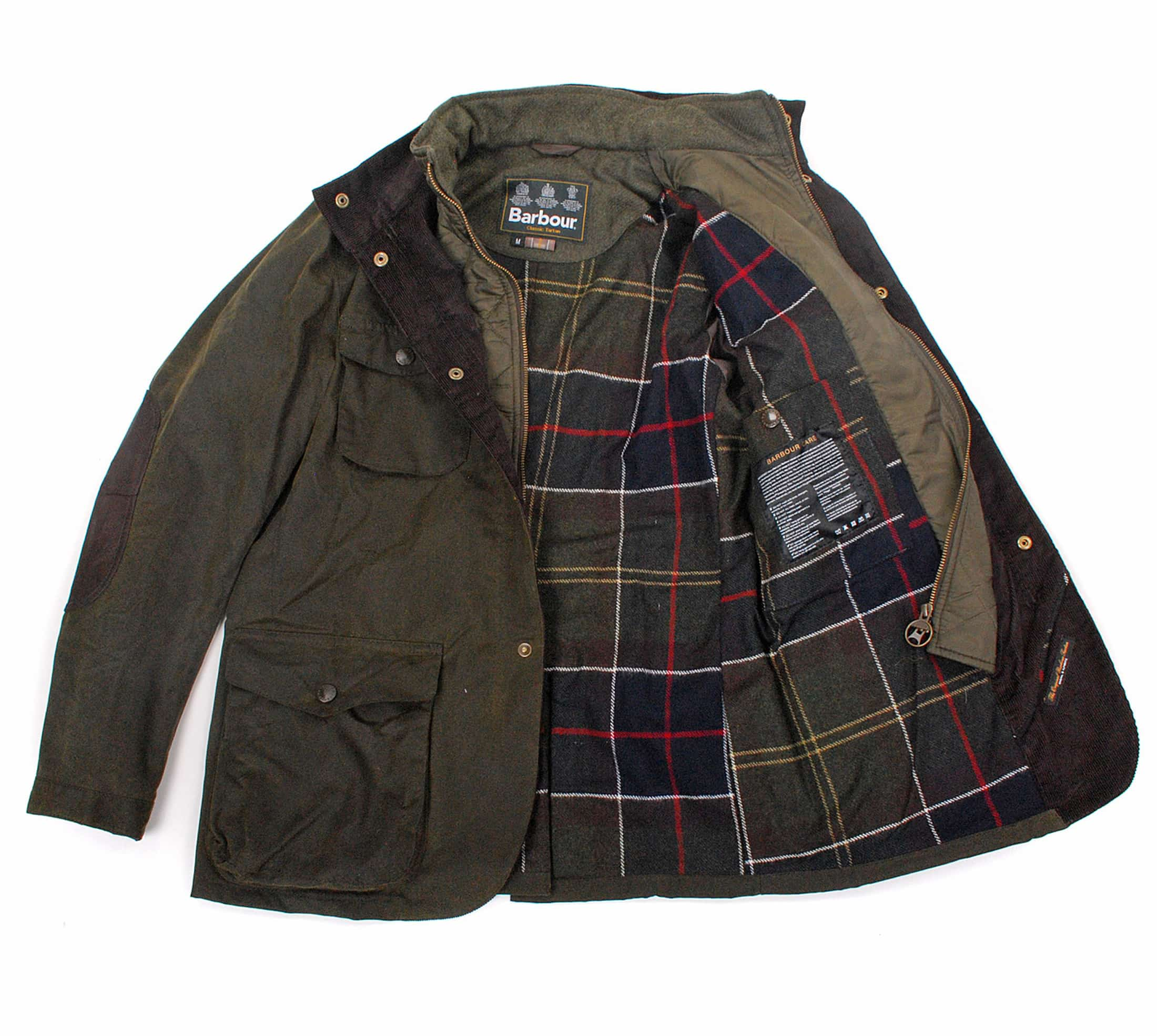 Barbour Waxjas Ogston Olive foto 10
