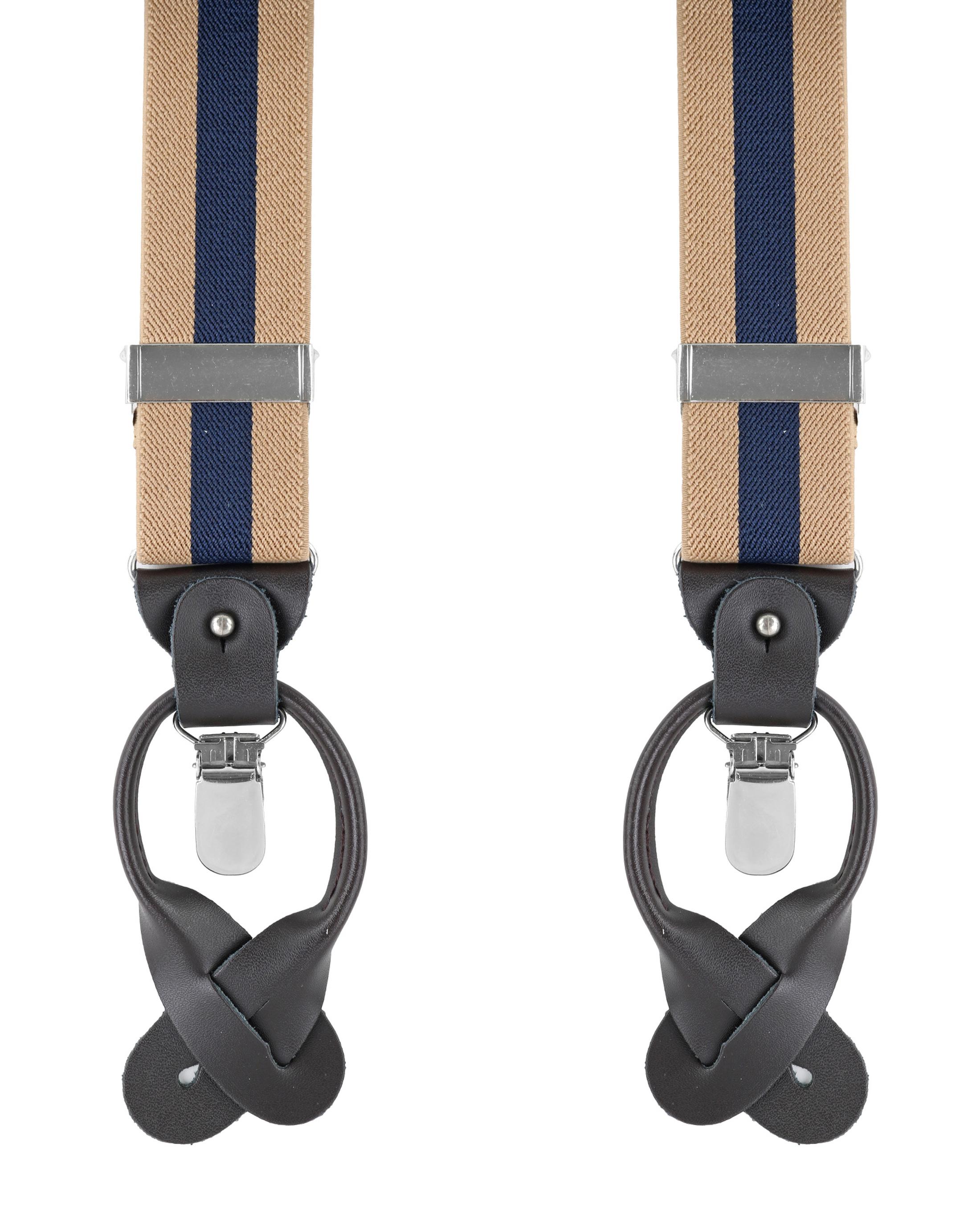 Beige-Navy Suspenders foto 0
