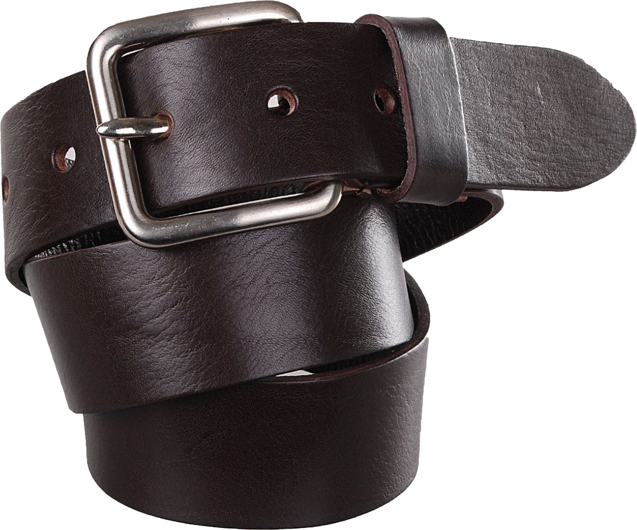 Belt Leather Jeans Dark Brown